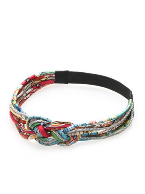 """<p>Tribal prints are big news this spring. Nod to the trend with this cute, purse friendly, knotted hairband.</p><p>Bando, £7 by <a href=""""http://www.monsoon.co.uk/invt/68663099&amp;bklist=icat,4,shop,accessorize,accznewarrivals"""">Accessorize</a></p>"""