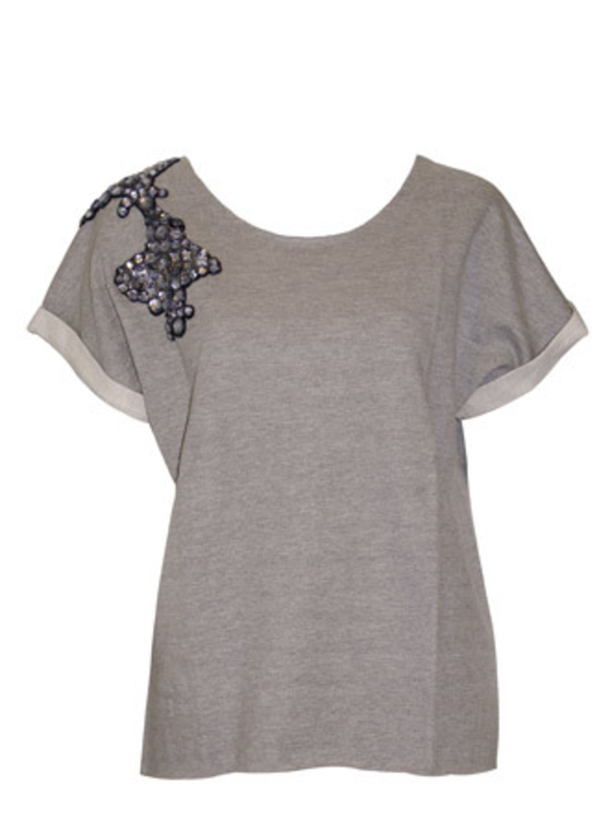 """<p>Whether worn with smart trousers or ripped denim shorts, thanks to the good quality fabric and embellished detail, this will be your go-to Tee for the summer months and beyond. </p><p>T-Shirt, £170 by <a href=""""https://www.o2oxygen.com/products/394/56/g"""