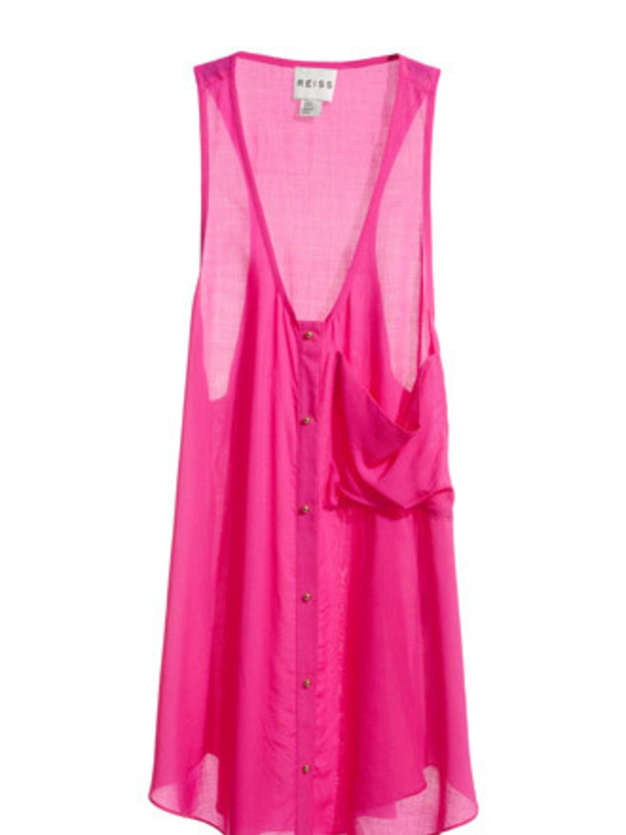 """<p>A hot pink vest is perfect for lazy days by the sea or chilling at a festival. It will also look great under a thick grey cardigan and jeans come autumn too.</p><p>Vest, £85 by <a href=""""http://www.reiss.co.uk/shop/womens/womens_new_arrivals/jasmin/elec"""
