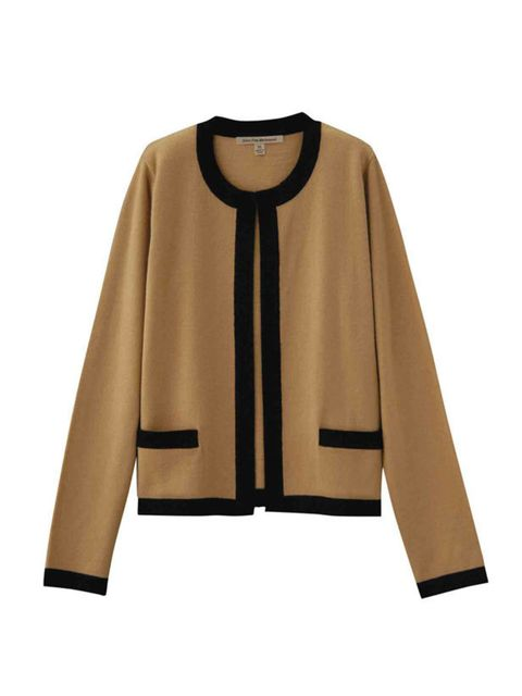 <p>This season is all about uncomplicated, womanly elegance and camel is the must-have shade. Nail two trends in one with this cardigan. Uniqlo camel wool cardigan, £29.99, (0207 290 8090)</p>