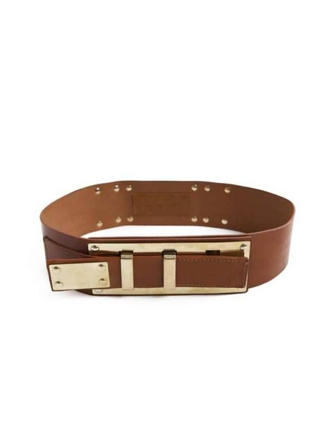 "<p>A leather belt is a wardrobe essential and this stand-out Sophie Hulme number will be just as covetable in many seasons to come. <a href=""http://www.sophiehulme.com/main.html"">Sophie Hulme</a> leather belt, £145 </p>"