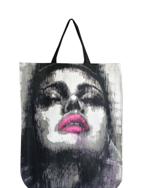 """<p> </p><p>This printed tote from Browns Focus is the perfect way to dress up a pair of jeans and add edge to any off-duty look. Browns Focus tote, £70, at <a href=""""http://www.glassworks-studios.com/product/bbo10009/"""">Glassworks Studios</a> </p>"""