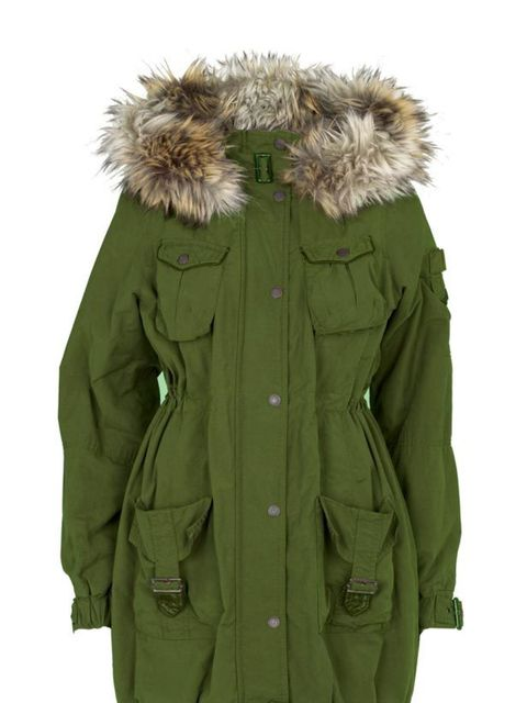 """<p> </p><p>Tap into the modern military trend with a trusty parka. River Island's latest style offers a cinched-in waist and bang on-trend faux fur collar - get it while you can. <a href=""""http://www.riverisland.com/Online/search?searchInput=parka"""">River I"""