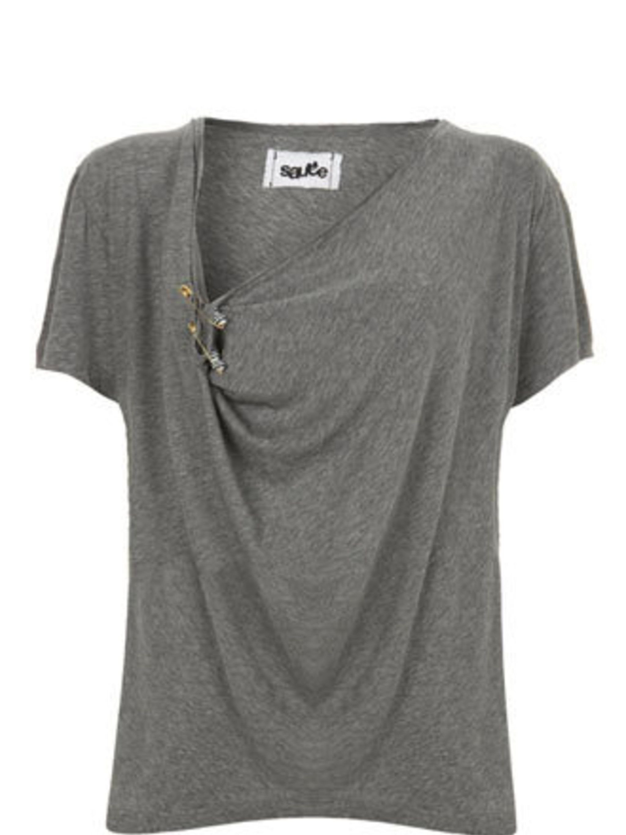 "<p>A fine tee is a must-have wardrobe staple. Pair with smart trousers, blazer and heels for the office. For the weekend, this will add a cool vibe to jeans.</p><p>T-Shirt, £48 by Sauce at <a href=""http://www.bunnyhug.co.uk/fashionshop/gbu0-prodshow/Sauce"