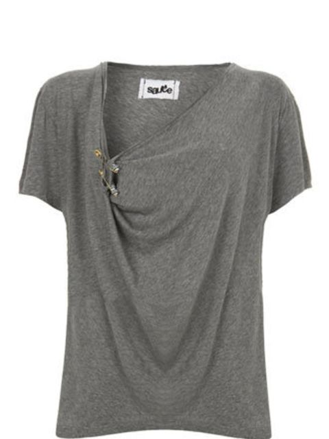 """<p>A fine tee is a must-have wardrobe staple. Pair with smart trousers, blazer and heels for the office. For the weekend, this will add a cool vibe to jeans.</p><p>T-Shirt, £48 by Sauce at <a href=""""http://www.bunnyhug.co.uk/fashionshop/gbu0-prodshow/Sauce"""