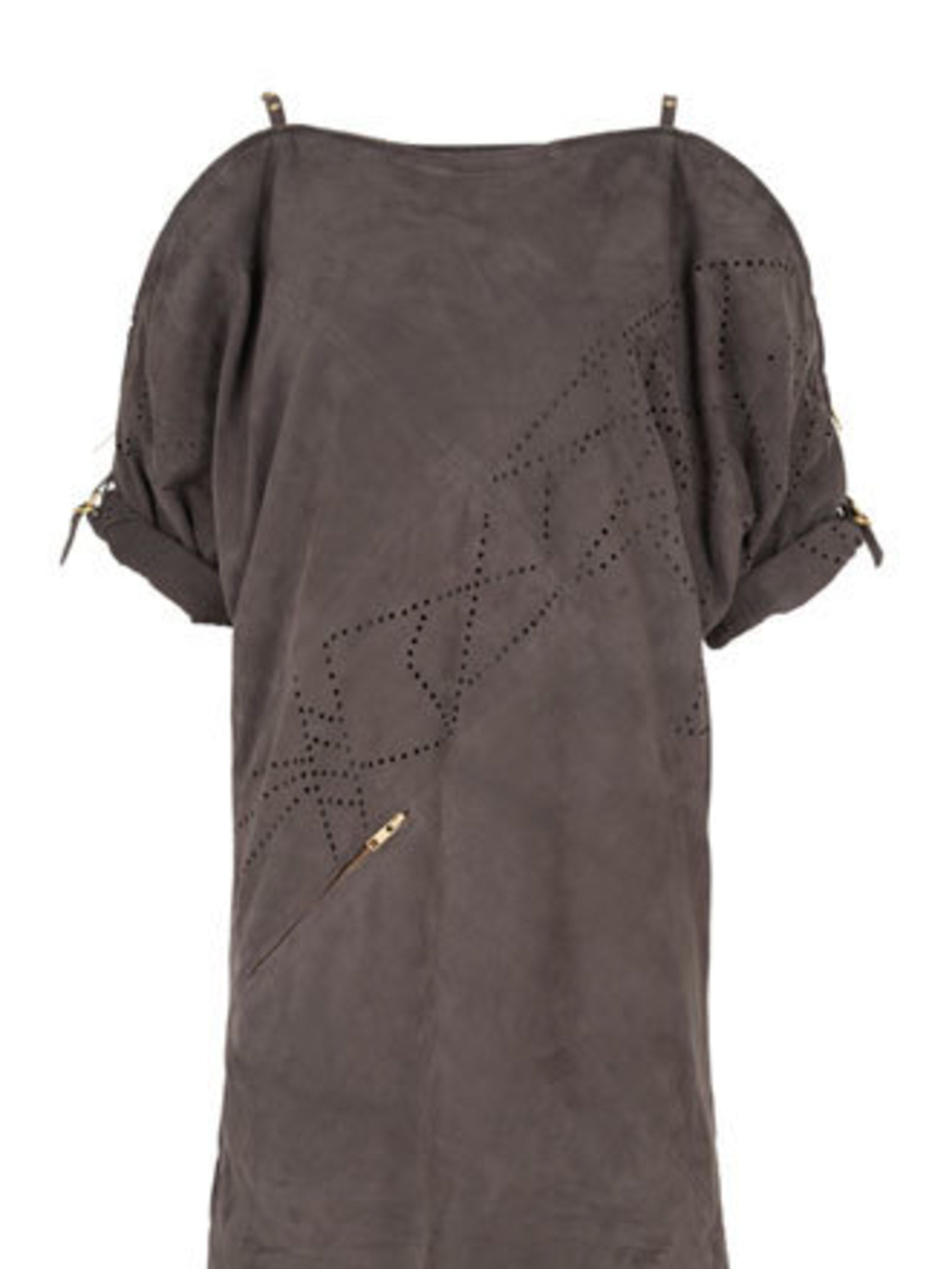 """<p>Whistles' suede dress is a winner. The soft chocolate colour, gold zip detail and rolled up sleeves scream effortless cool. Just add a pair of Ray Bans and you're good to go.</p><p>Dress, £250 by <a href=""""http://www.whistles.co.uk/"""">Whistles</a></p>"""