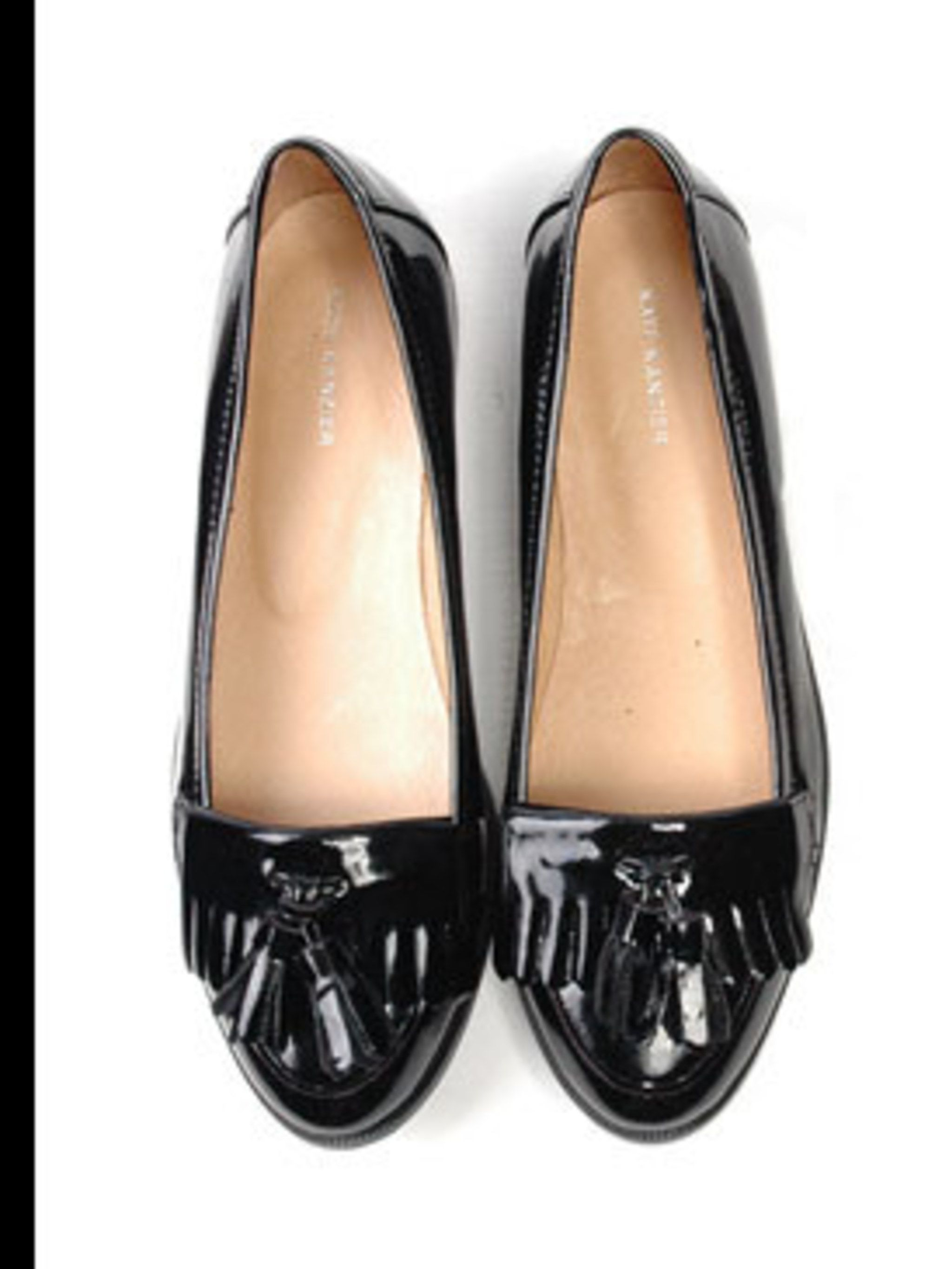 "<p>Loafers, £35 by <a href=""http://www.katekanzier.com/moreinfo.asp?product_id=1250&amp&#x3B;pid=417"">Kate Kanzier</a></p>"