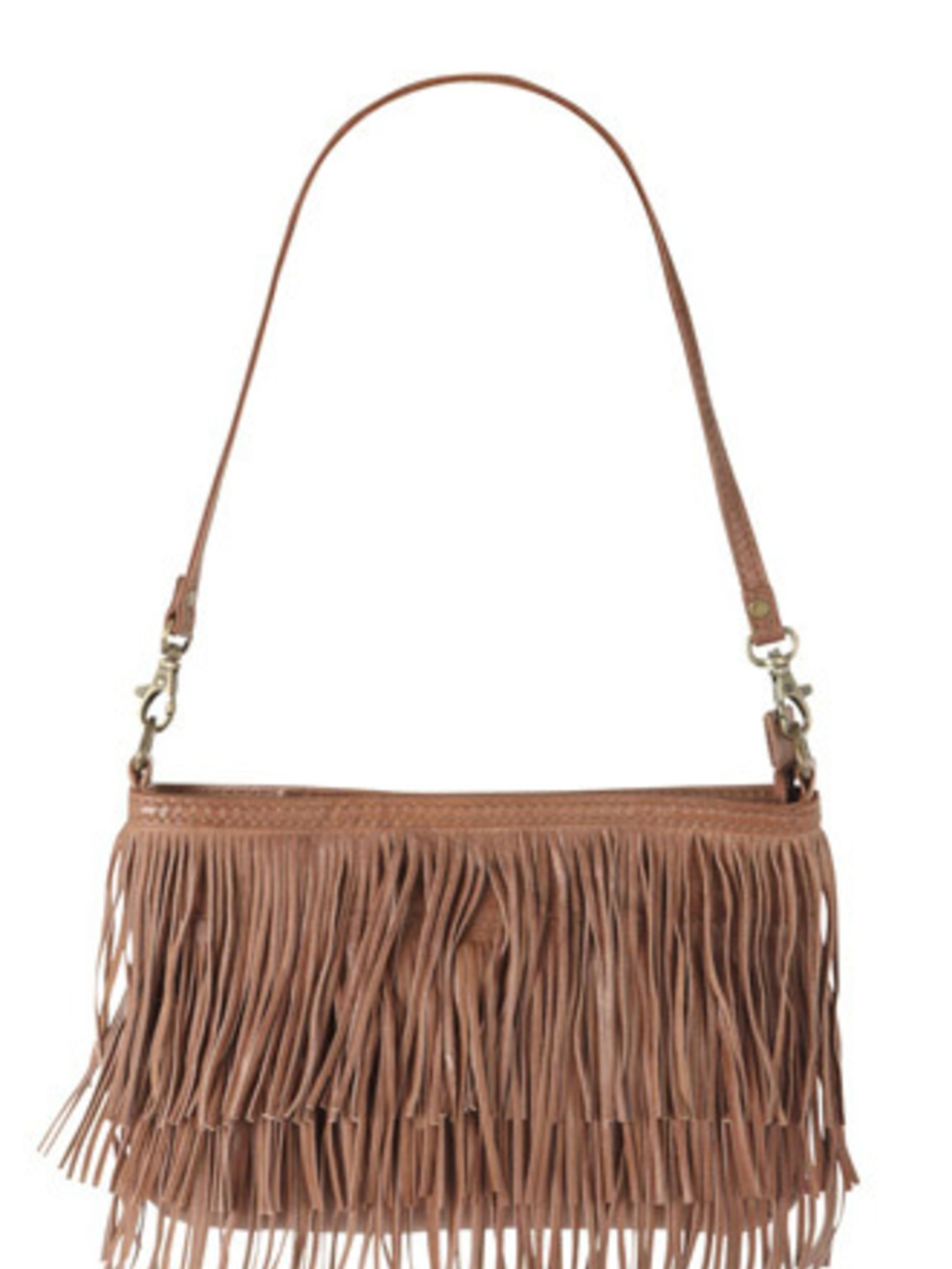 <p>If you're thinking about attempting the double denim look, make sure you pair those blue hues with this Americana-style tassel bag from Oasis. It will come in handy paired with floral tea dresses and wellies at all those festivals this summer too.</p><