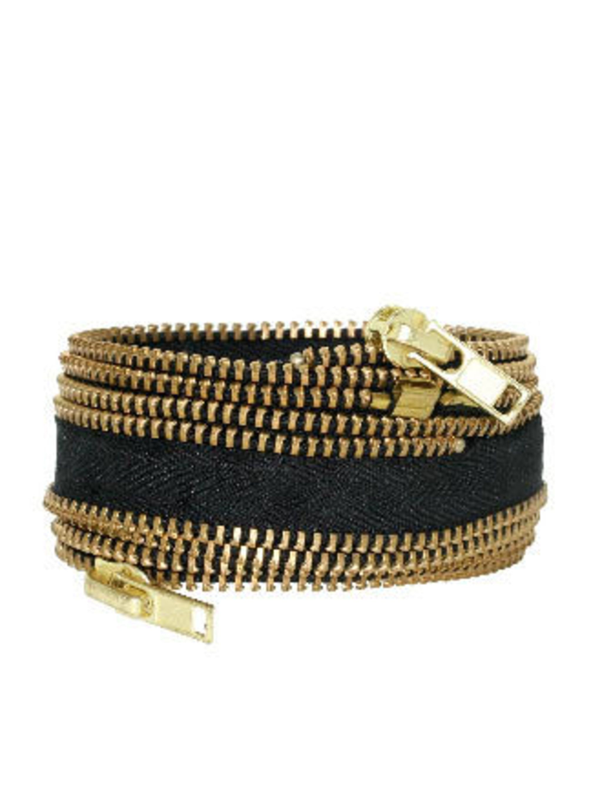 "<p> How cute is this zip bracelet? Make a final plea to Santa before it's too late.</p><p> Bracelet, £46 by Study NY at <a href=""http://www.kabiri.co.uk/jewellery/new-in/zipper-cuff.html"">Kabiri</a></p>"