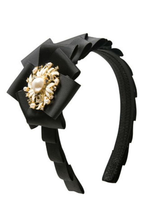 "<p>A hair accessory will instantly dress up a hairstyle. This A|Wear hair band is very Park Avenue Princess - Blair Waldorf, eat your heart out!</p><p>Hair band, £8 by <a href=""http://www.awear.com/page/home&amp;setlocn=restofworld&amp;log=4?cmpid=43&amp;"