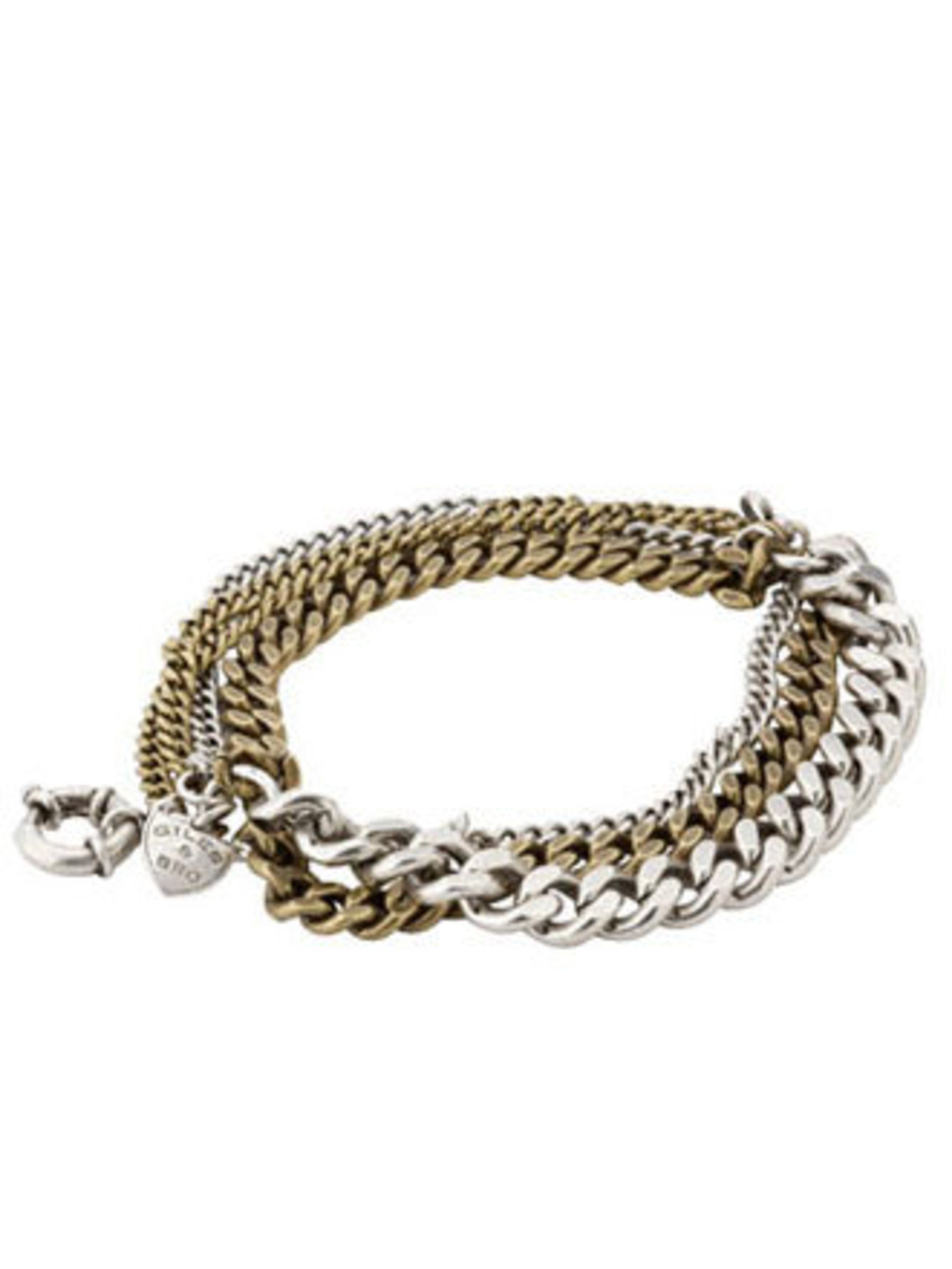 """<p>Toughen up a pretty wardrobe with edgy accessories. This Giles & Brother chain bracelet will do just that.</p><p>Bracelet, £105 by <a href=""""http://www.liberty.co.uk/fcp/product/Liberty/Jewellery/Bronze-Multi-Chain-Bracelet,--Giles-And-Brother/41720"""