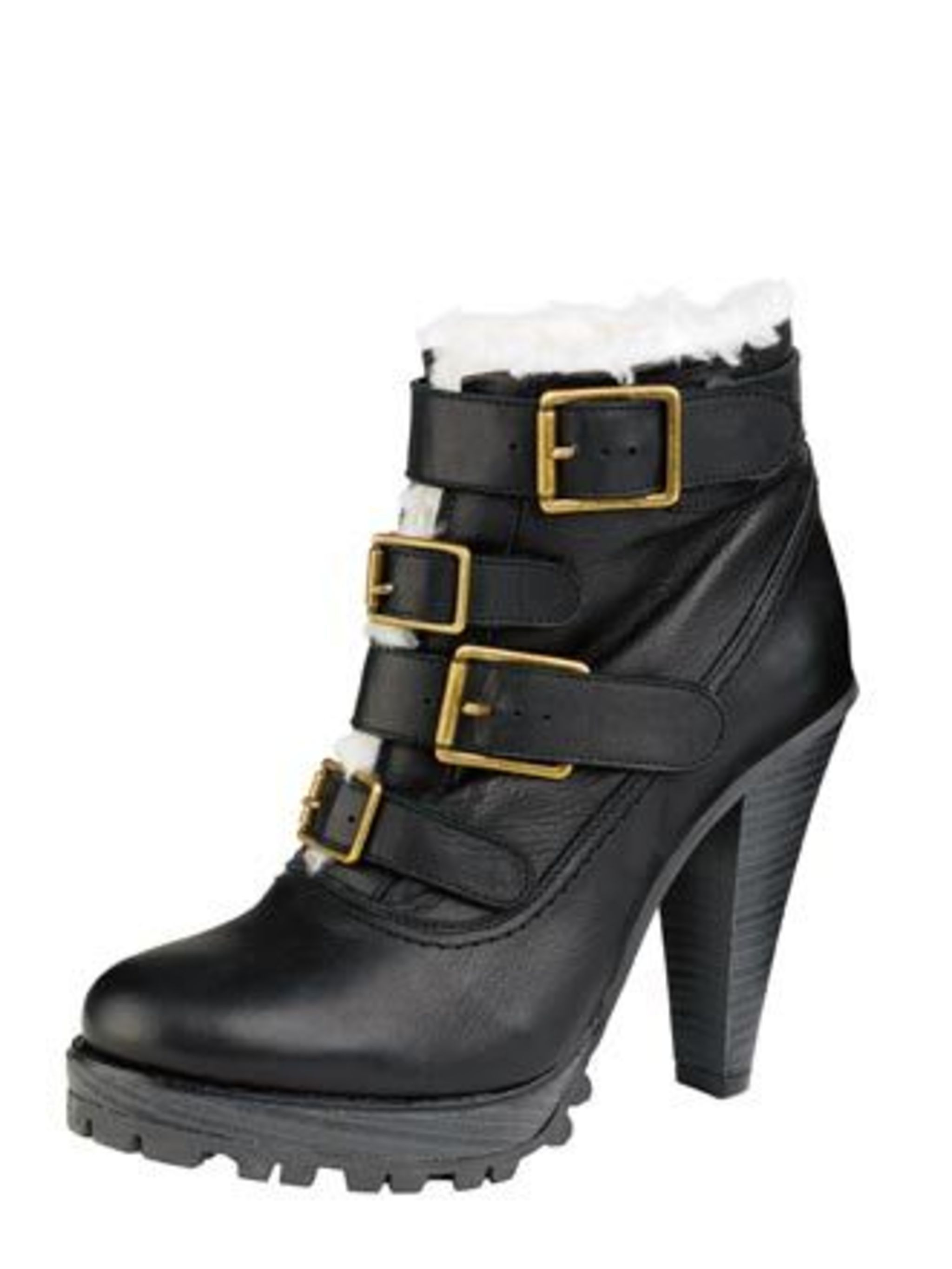 "<p>These ankle boots with tread detail, faux fur lining and buckles tick all the right boxes. Who cares if it's still warm outside? We'll be buying them this week before they sell out. <a href=""http://www.urbanoutfitters.co.uk/page/home"">Urban Outfitters<"