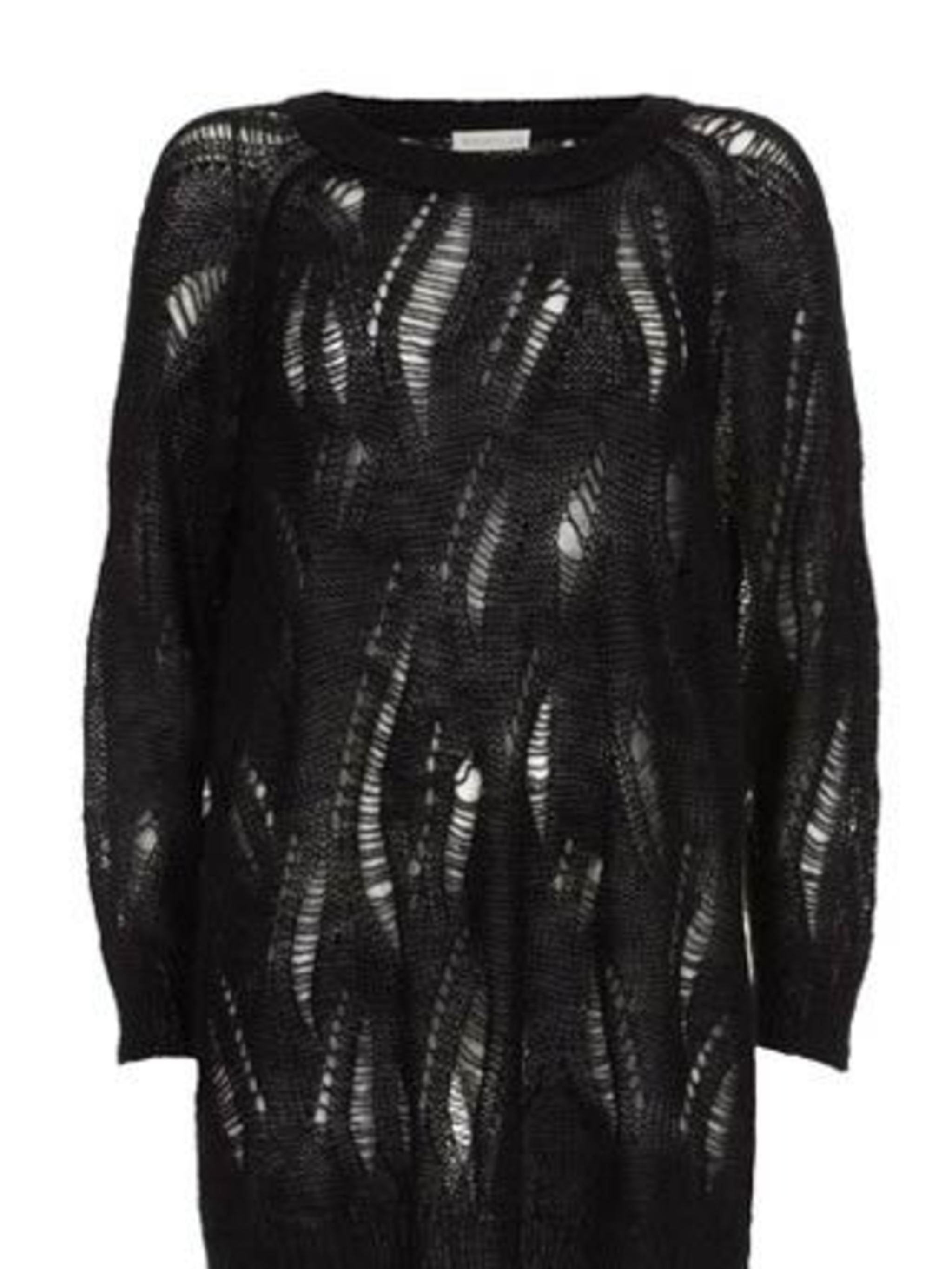 "<p>Jumper, £110 by <a href=""http://www.whistles.co.uk/fcp/product/whistles/newin/Punky-Ladder-Jumper/903000053506"">Whistles</a></p>"