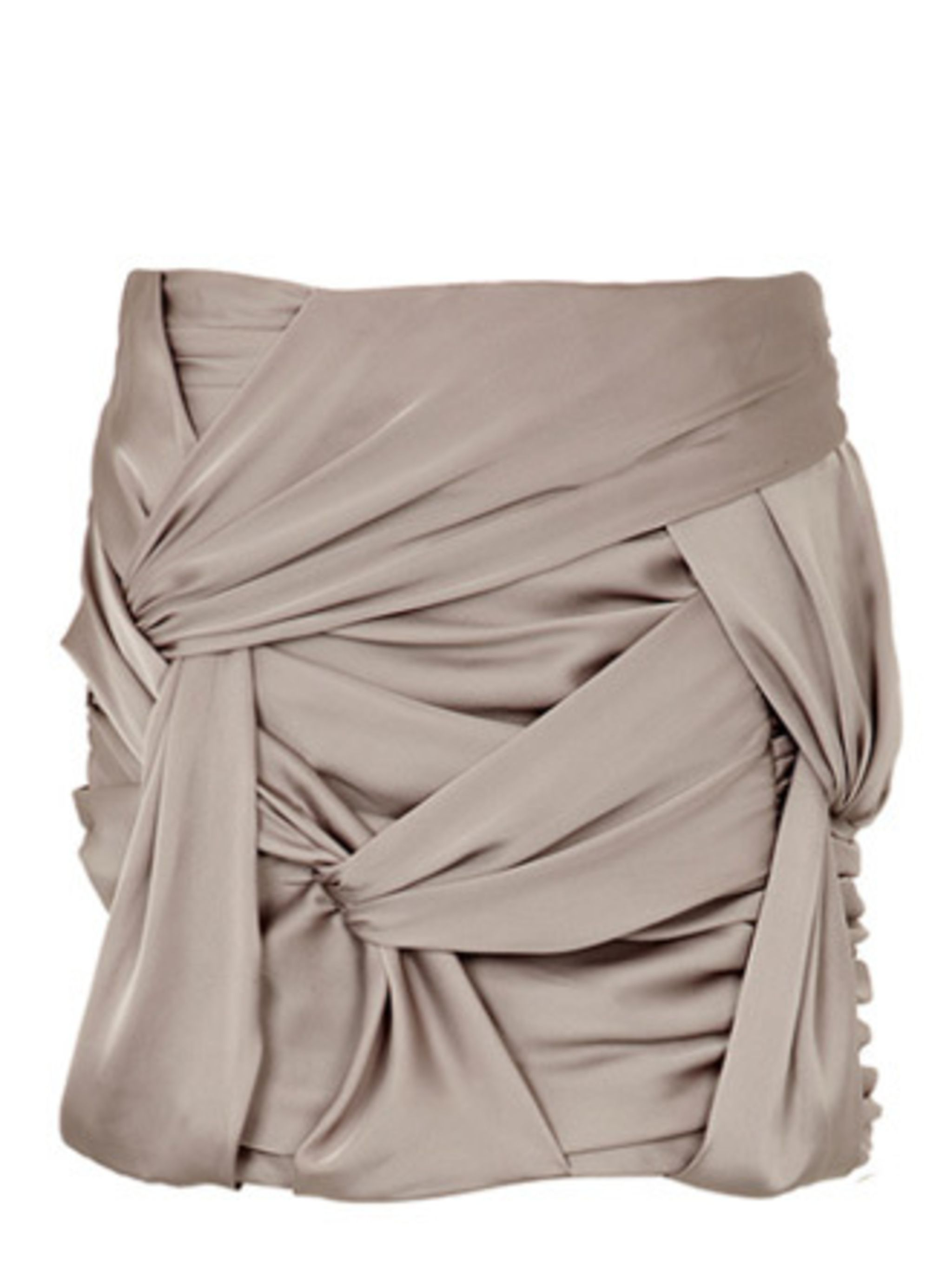 <p>Team ELLE love this ruched, putty-hued skirt. Pair with a plain vest and a faux tan.</p><p>Skirt, £34.99 by River Island</p>