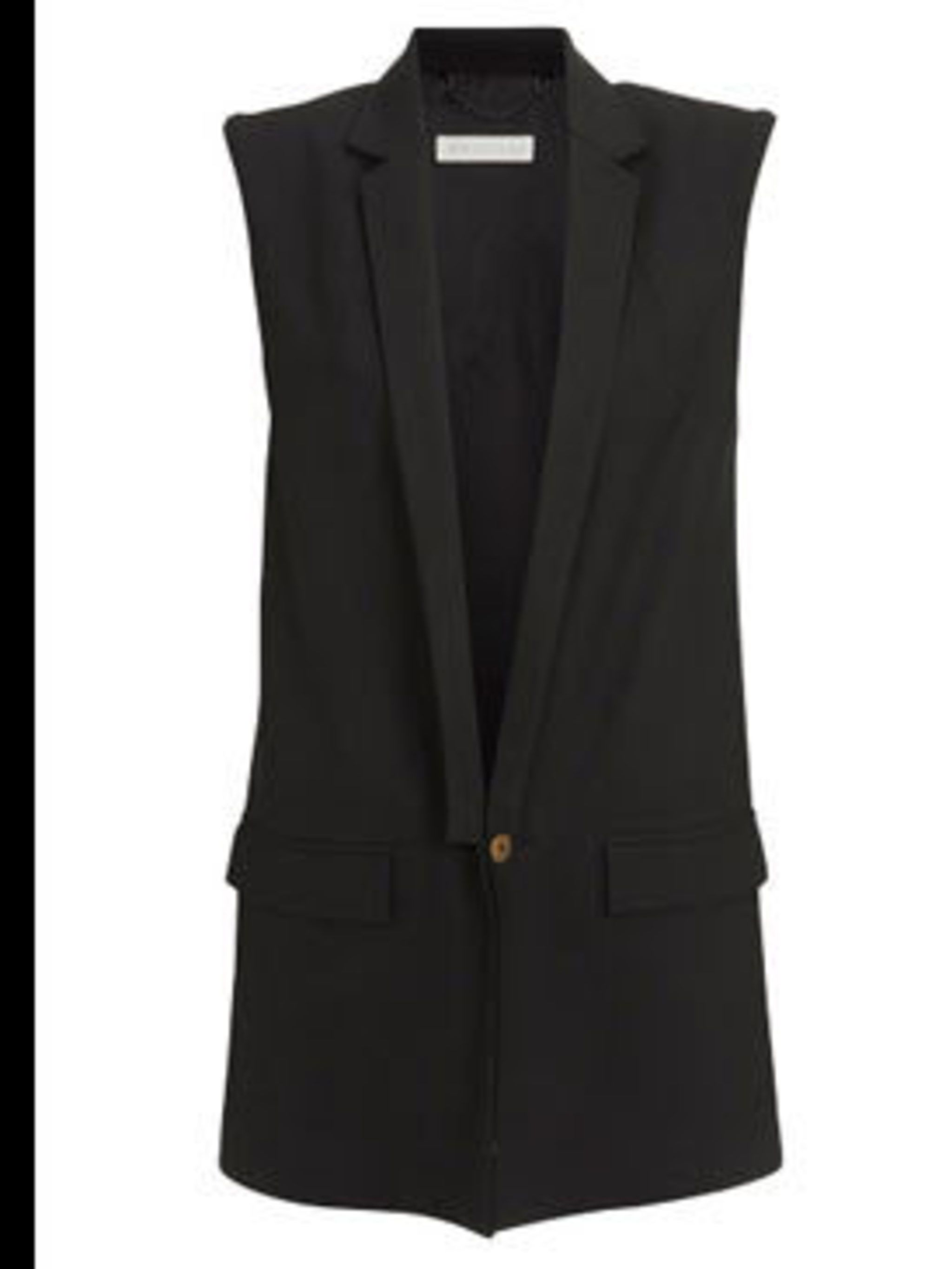 "<p>Sleeveless Blazer, £130 by <a href=""http://www.whistles.co.uk/fcp/product/whistles/newin/Sleeveless-Blazer/903000053723"">Whistles</a></p>"