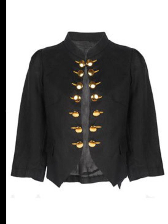 "<p>Jacket, £62 by Toki &amp&#x3B; Nabi at <a href=""http://www.pretaportobello.com/Onlineproductdetail.aspx?PId=e2608272-d1de-4687-a666-cfaa6521bcba"">Pret a Portobello</a></p>"