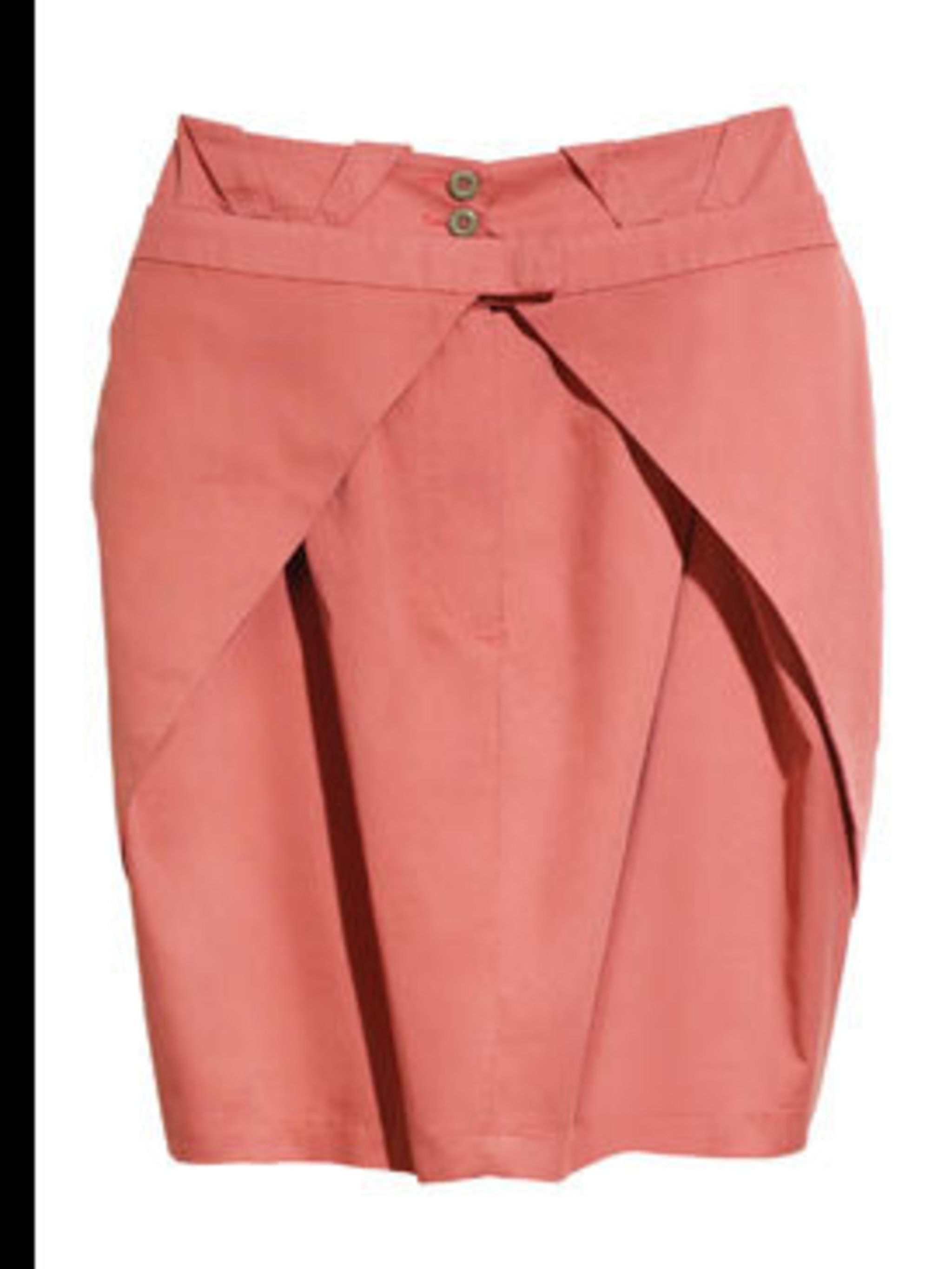 <p>Coral skirt, £24.99, by H&M (020 7323 2211)</p>