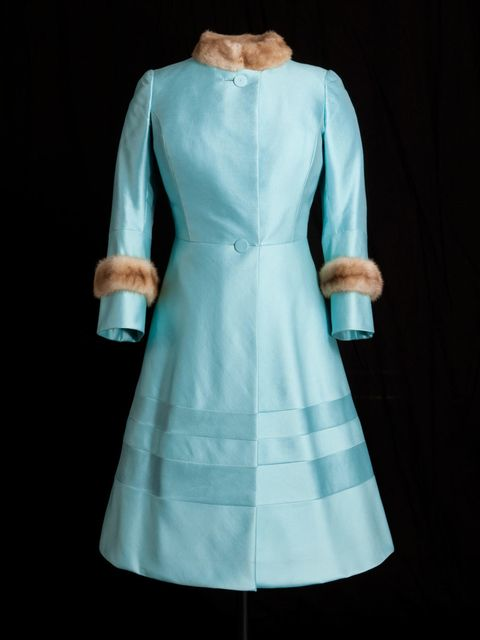 <p>Norman Hartnell coat worn by HM The Queen in 1972</p>