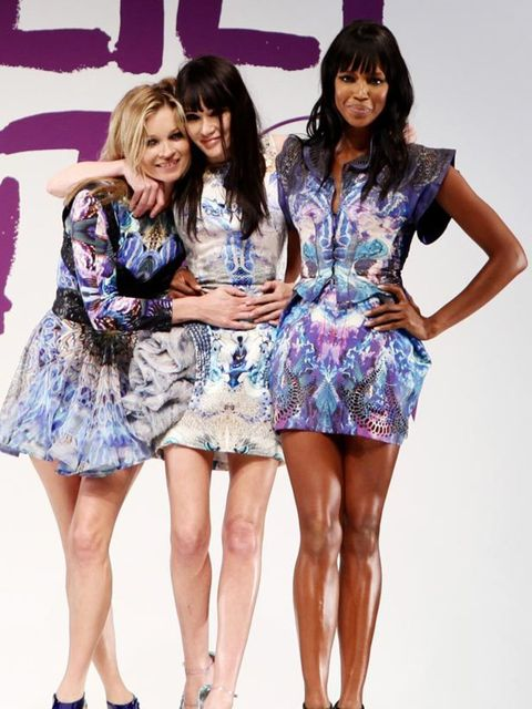 <p>Kate Moss, Annabelle Neilson and Naomi Campbell all wearing Alexander McQueen</p>