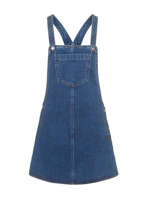 "<p>Market & Retail Editor Harriet Stewart will layer this pinafore dress over a high-necked white blouse.</p>  <p><a href=""http://www.topshop.com/en/tsuk/product/clothing-427/denim-897/moto-denim-pocket-pinafore-dress-4467548?bi=1&ps=200"" target=""_blank"">"