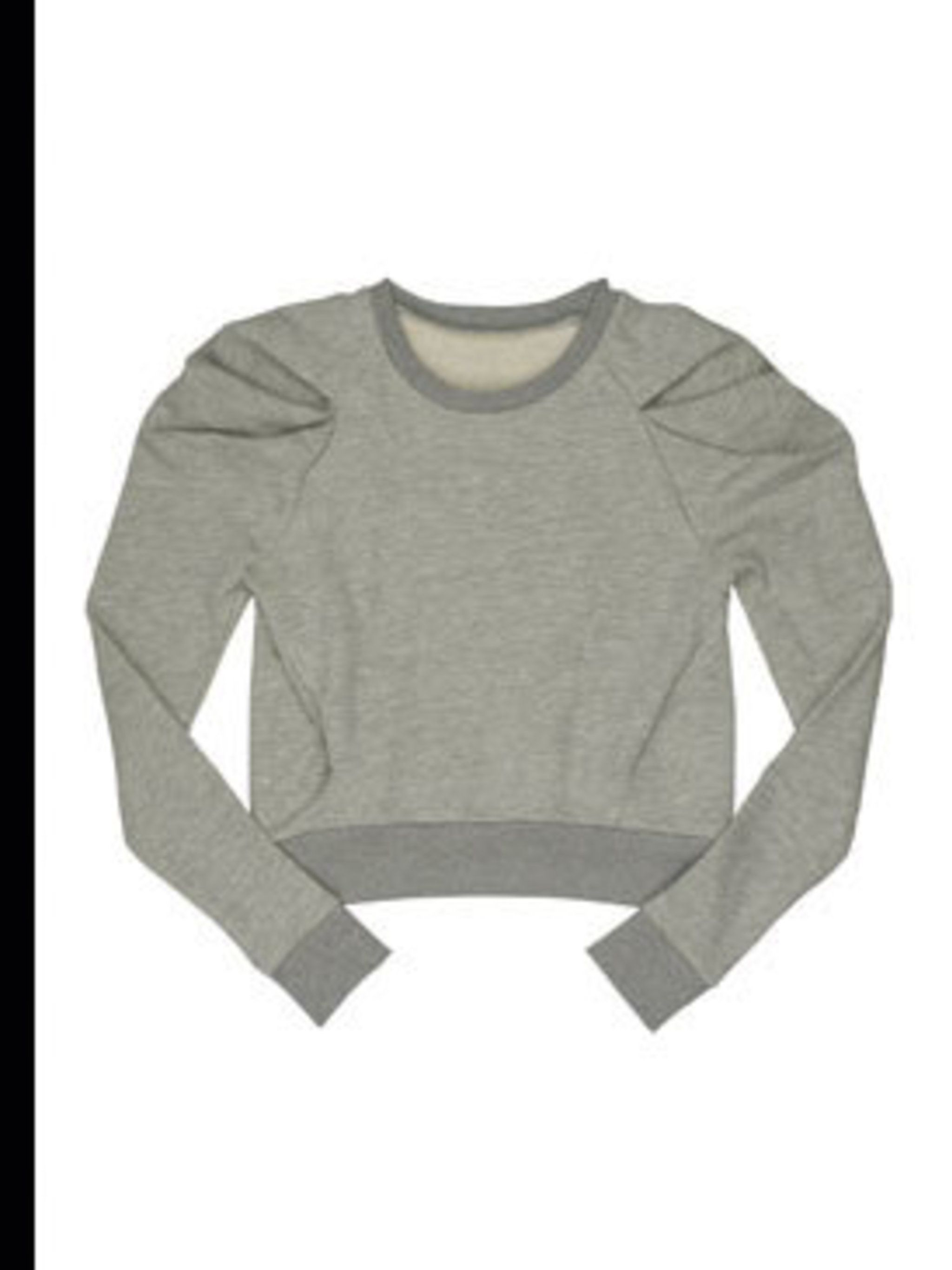 "<p>Grey detailed shoulder jumper, £40, by <a href=""www.urbanoutfitters.co.uk"">Urban Outfitters </a></p>"