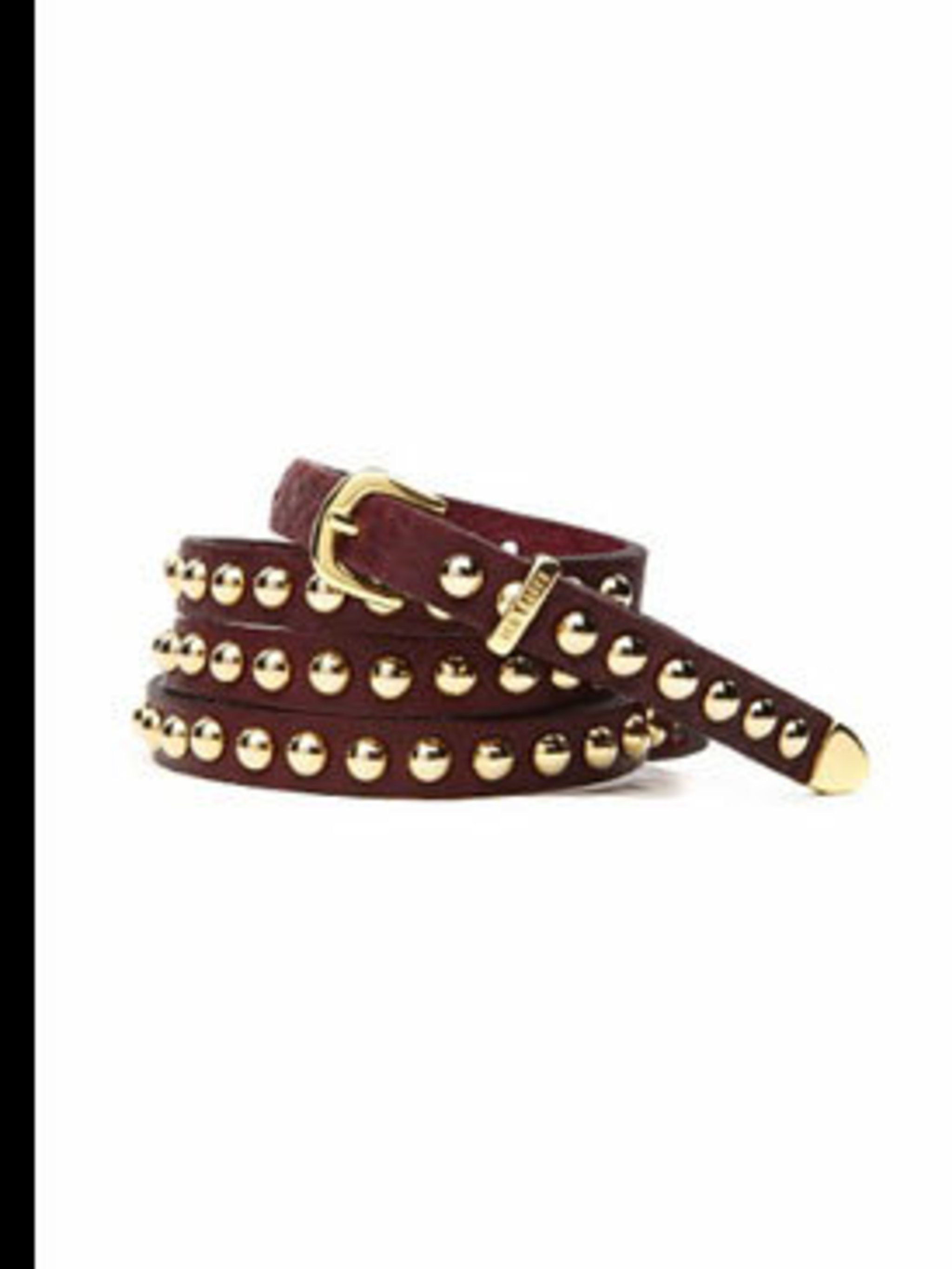 "<p>Studded leather belt, £39, by <a href=""www.tedbaker.com"">Ted Baker</a></p>"