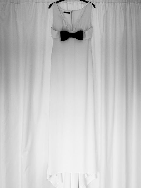 "<p>I always knew I didn't want the traditional wedding dress experience. I bought my simple, chic Alexander McQueen gown online at <a href=""http://www.theoutnet.com/en-GB/"" target=""_blank"">The Outnet</a> and hired seamstress extraordinaire <a href=""http:/"