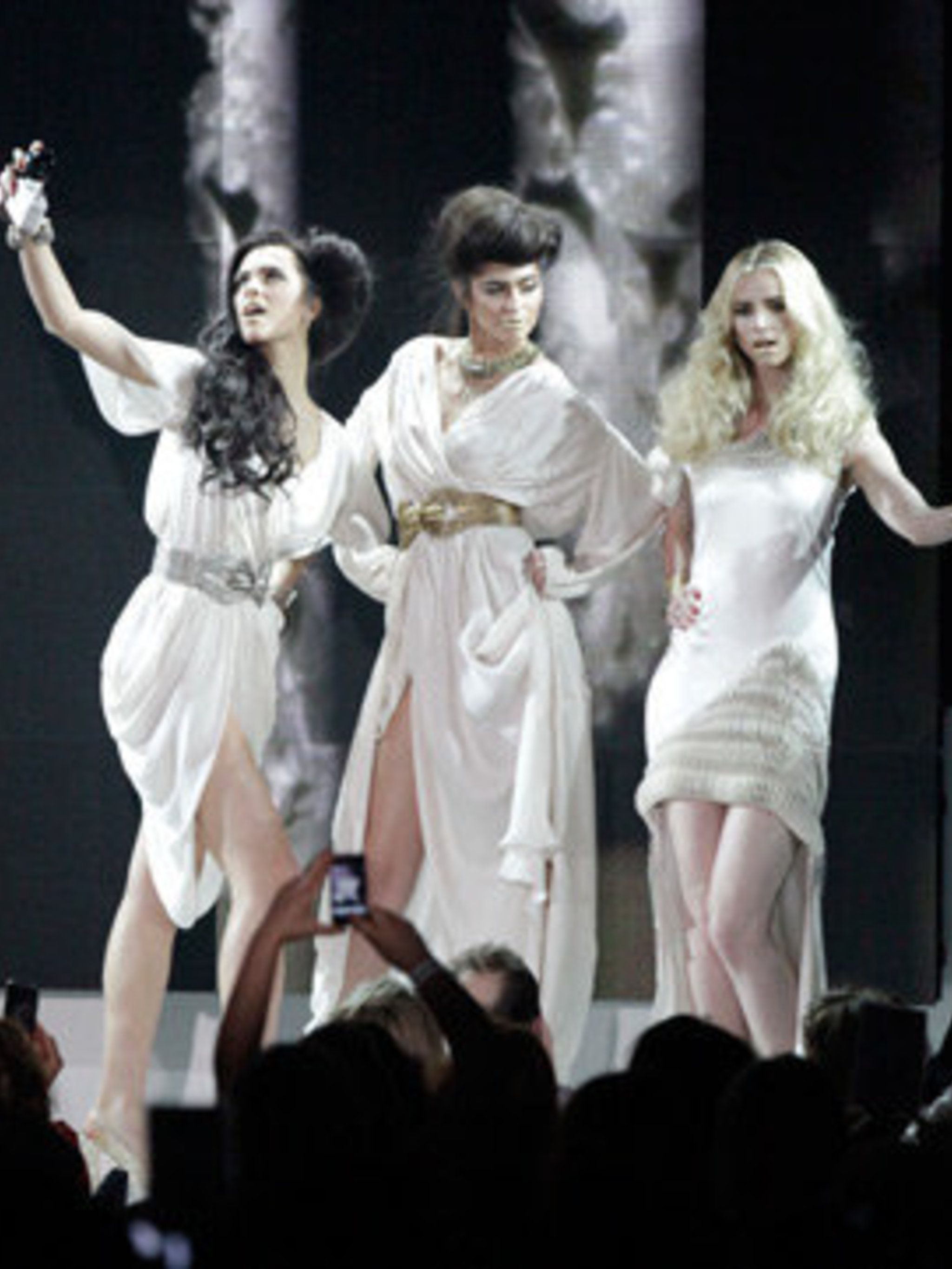 <p>Models on stage at the L'Oreal Colour Trophy Awards</p>