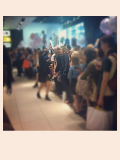 <p>Edward Meadham in the crowd</p>