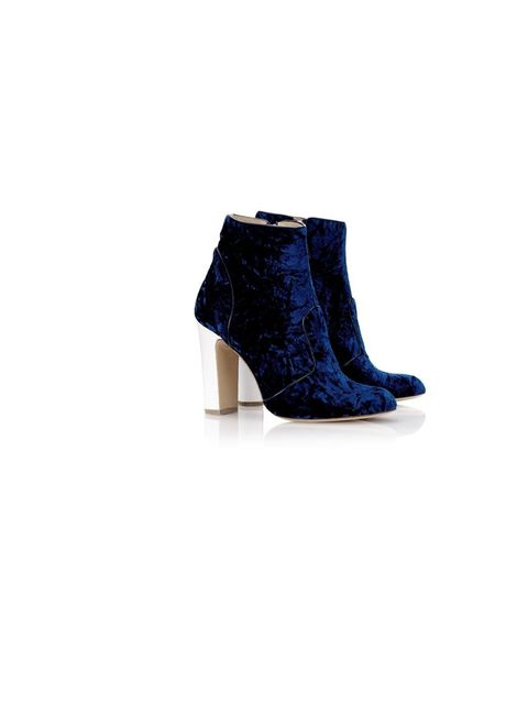 "<p>Bionda Castana boots, were £495, now £345, from <a href=""http://www.avenue32.com/shoes/all-shoes/110mm-blue-velvet-amelie-boots-01302.html"">Avenue32.com</a></p><p>Don't miss out on additional online discount codes and exclusive sale tips only in this m"