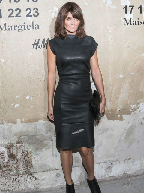 <p>Helena Christensen at the Maison Martin Margiela for H&M launch</p>