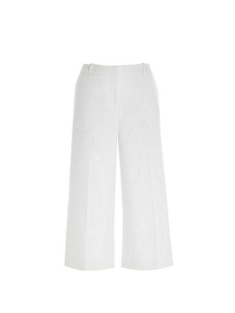 "<p><a href=""http://www.riverisland.com/women/trousers--leggings/culottes/white-smart-culottes-671967"" target=""_blank"">River Island</a> culottes, £35</p>"