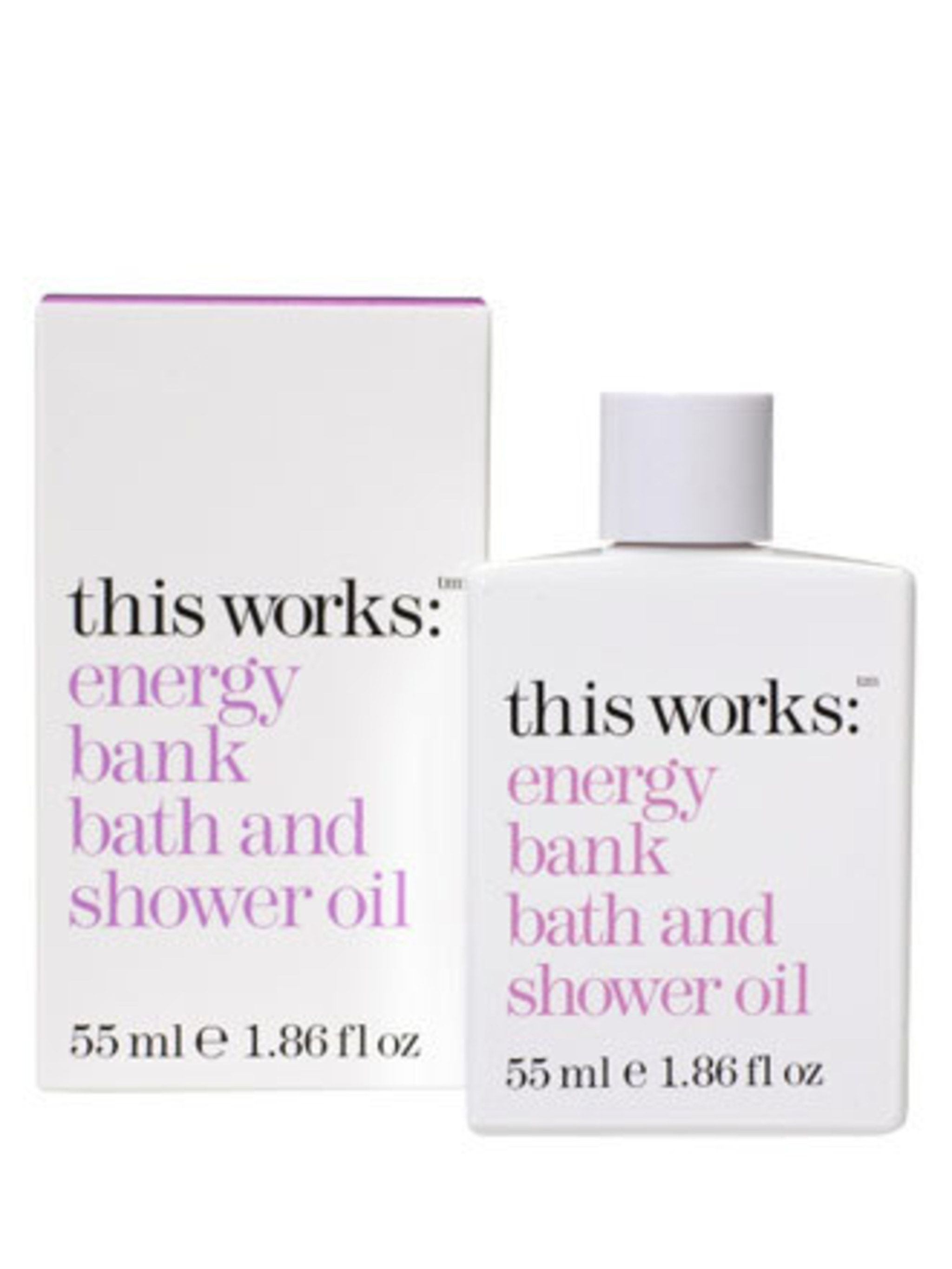 <p>If you're caught in a rain shower, have had a bad day at work or just feel a bit down in the dumps, run a bath and pour a few drops of This Works Energy Bank bath oil into the water. Containing a high concentration of specially selected essential oils