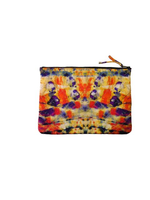 """<p>As a clutch, iPad case or travel pouch, this silk number is just the ticket to take you through the coming season… CC Kuo silk pouch, £60, at <a href=""""https://www.fenwick.co.uk/"""">Fenwick</a></p>"""