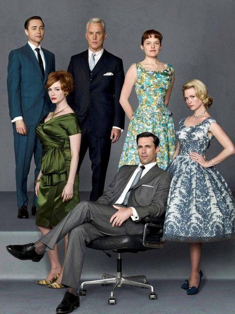<p>Jon Hamm and the cast of Mad Men, January 2007.</p>