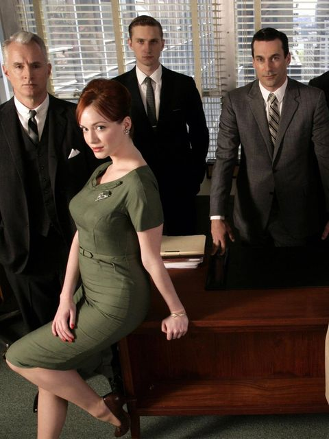 <p>The cast of Mad Men, March 2007.</p>
