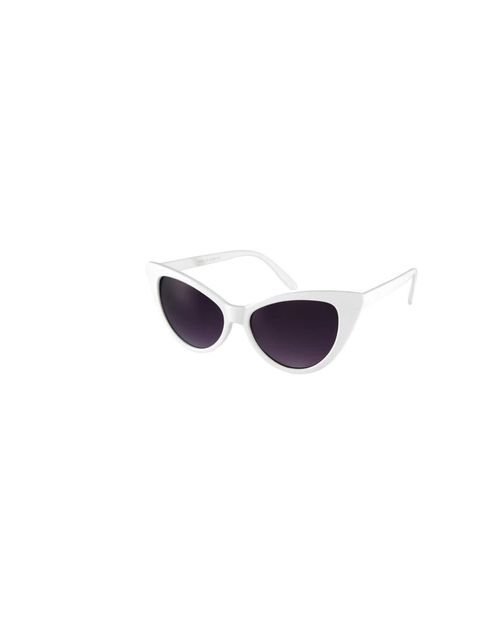 "<p>These Asos white sunglasses add the perfect touch to this outfit, £10 at <a href=""http://www.asos.com/ASOS/ASOS-Cat-Eye-Sunglasses/Prod/pgeproduct.aspx?iid=2723431&cid=4545&Rf-200=5&sh=0&pge=0&pgesize=20&sort=-1&clr=White"">A"