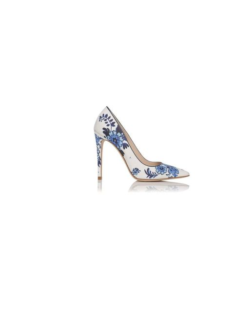 "<p>Beautiful floral courts from <a href=""http://www.lkbennett.com/shoes/courts/CCFLORA400COTTON"">LK Bennett</a>, £185</p>"