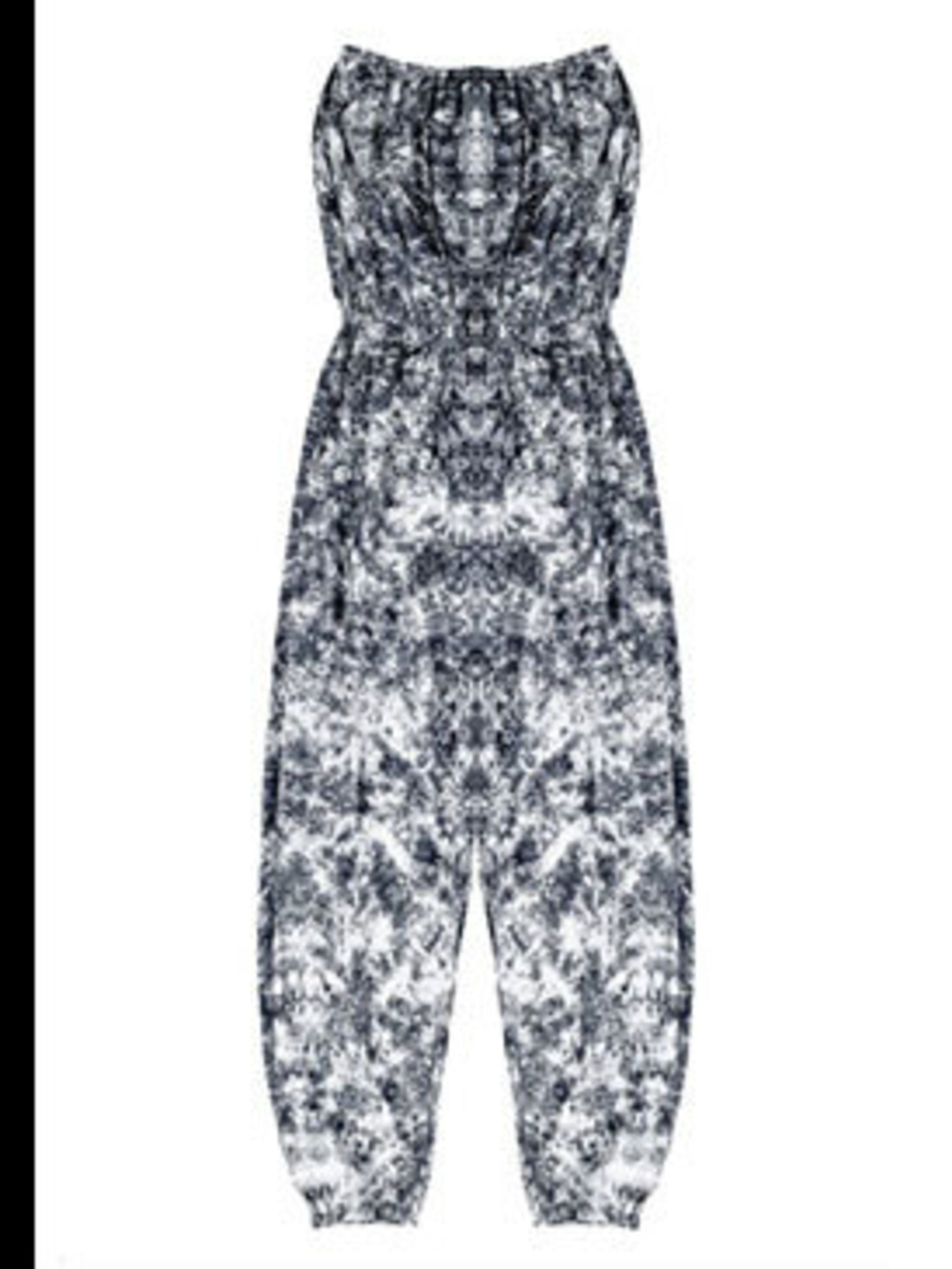 """<p>Jumpsuit £105 by Maurie&amp&#x3B;Eve at <a href=""""http://www.bunnyhug.co.uk/fashionshop/gbu0-prodshow/Maurie_and_Eve_Strapless_Jumpsuit_in_Black_Smoke.html"""">Bunnyhug</a></p>"""