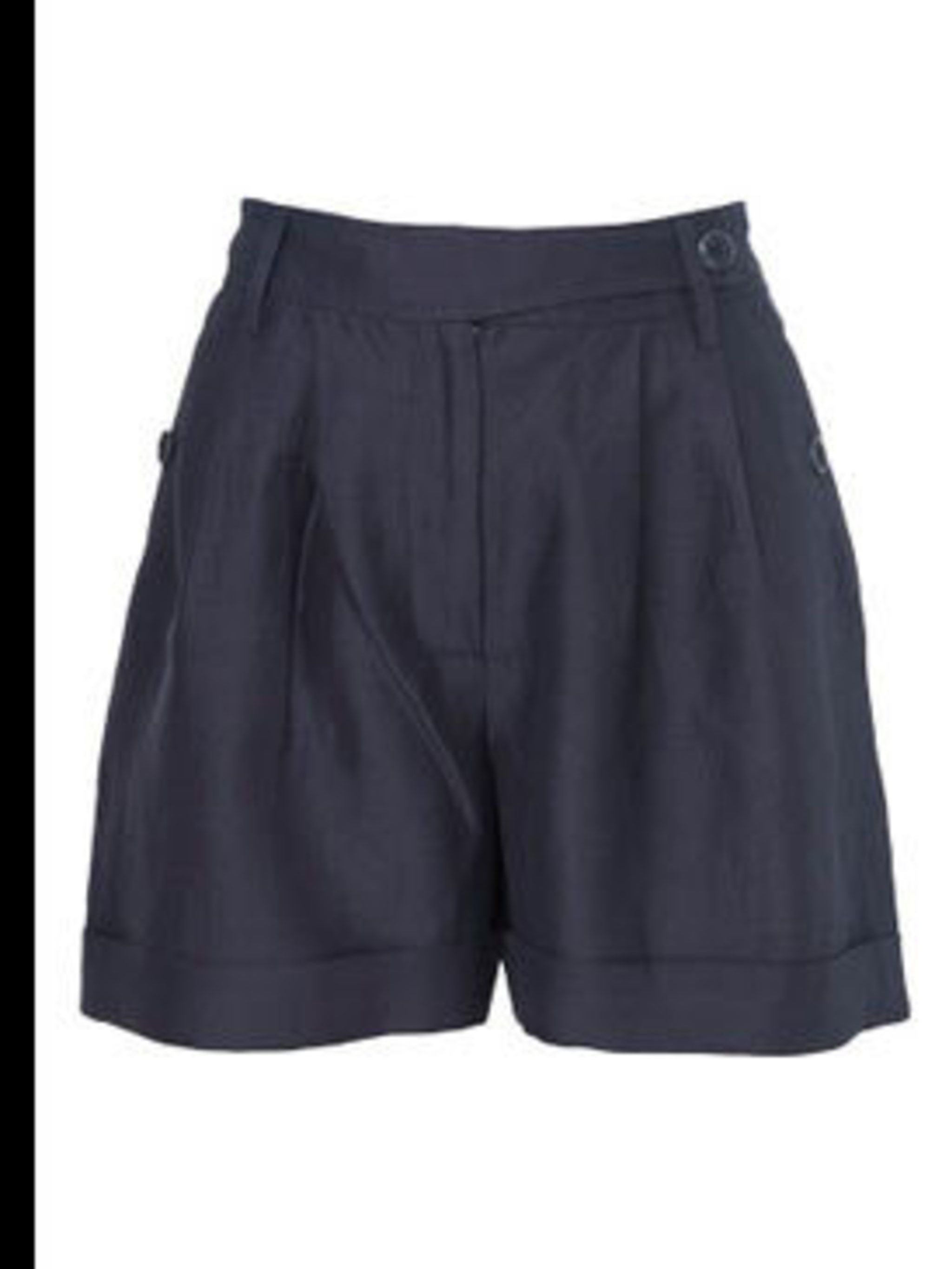 "<p>Shorts, £70 by <a href=""http://www.whistles.co.uk/fcp/product/whistles/newin/Navy-Cross-Over-Front-Short/903000052636"">Whistles</a></p>"