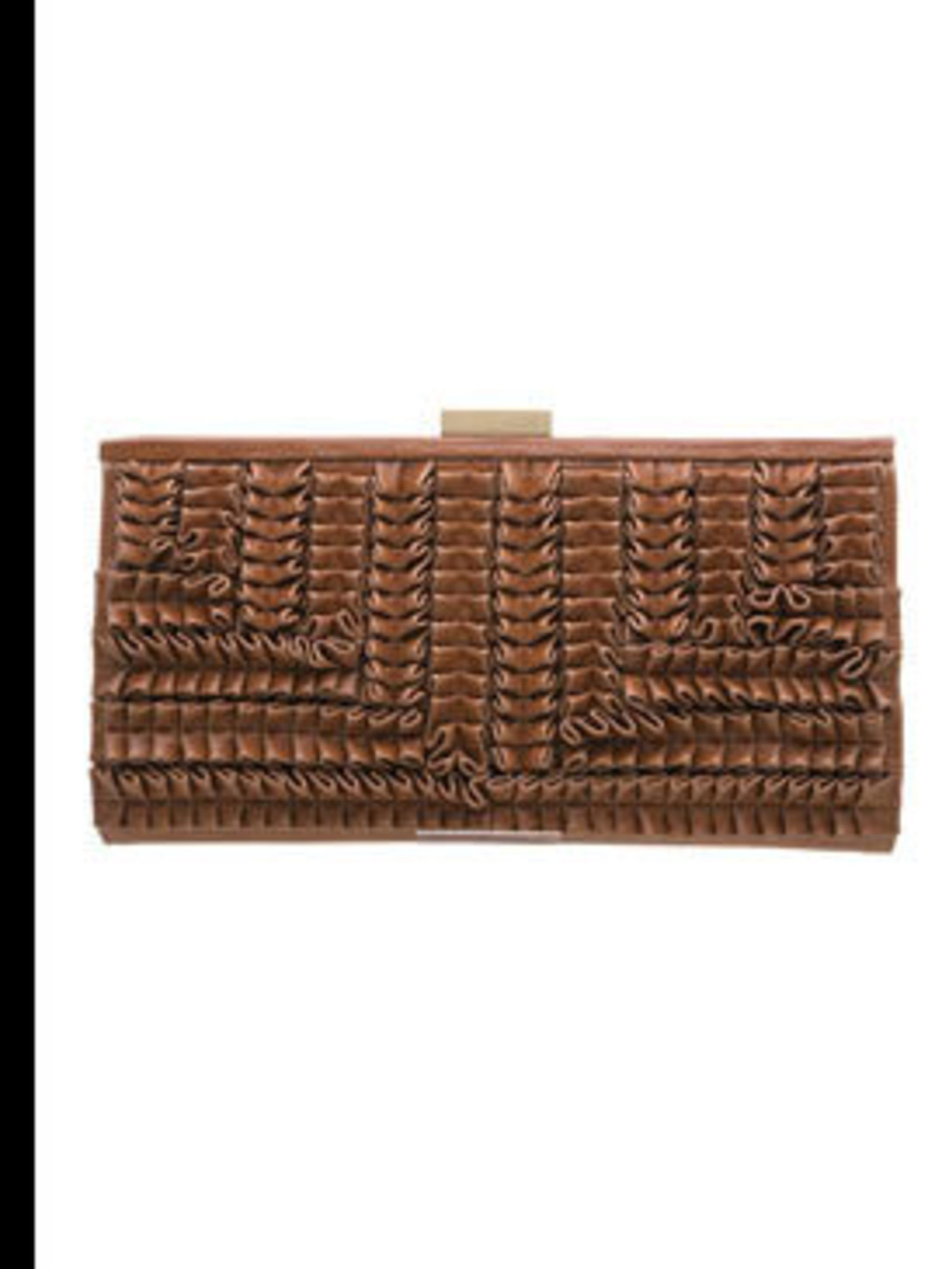 "<p>Clutch bag, £45 by <a href=""http://www.dune.co.uk/catalogue/style.asp?r=46&g=45&s=59&y=S09APU83BGM626N"">Dune</a></p>"