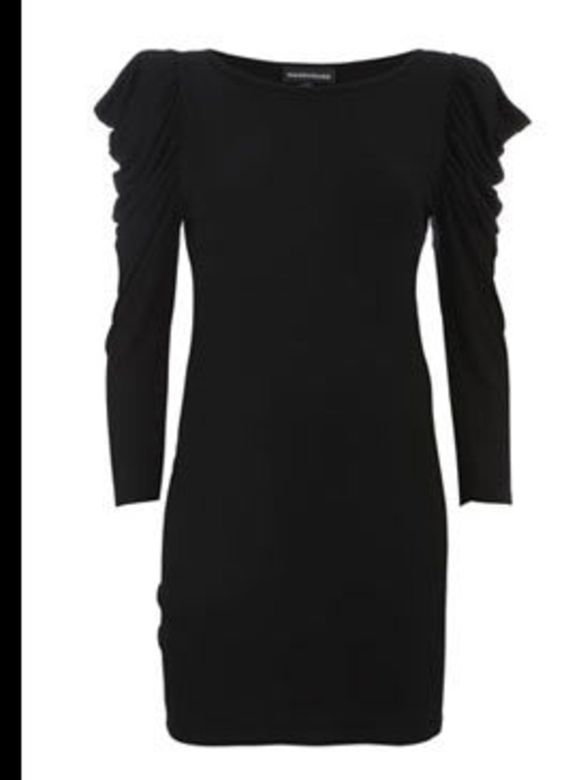 "<p>Dress, £28 by <a href=""http://www.warehouse.co.uk/fcp/product/fashion//SCULPTURED-SLEEVE-DRESS/12588"">Warehouse</a></p>"