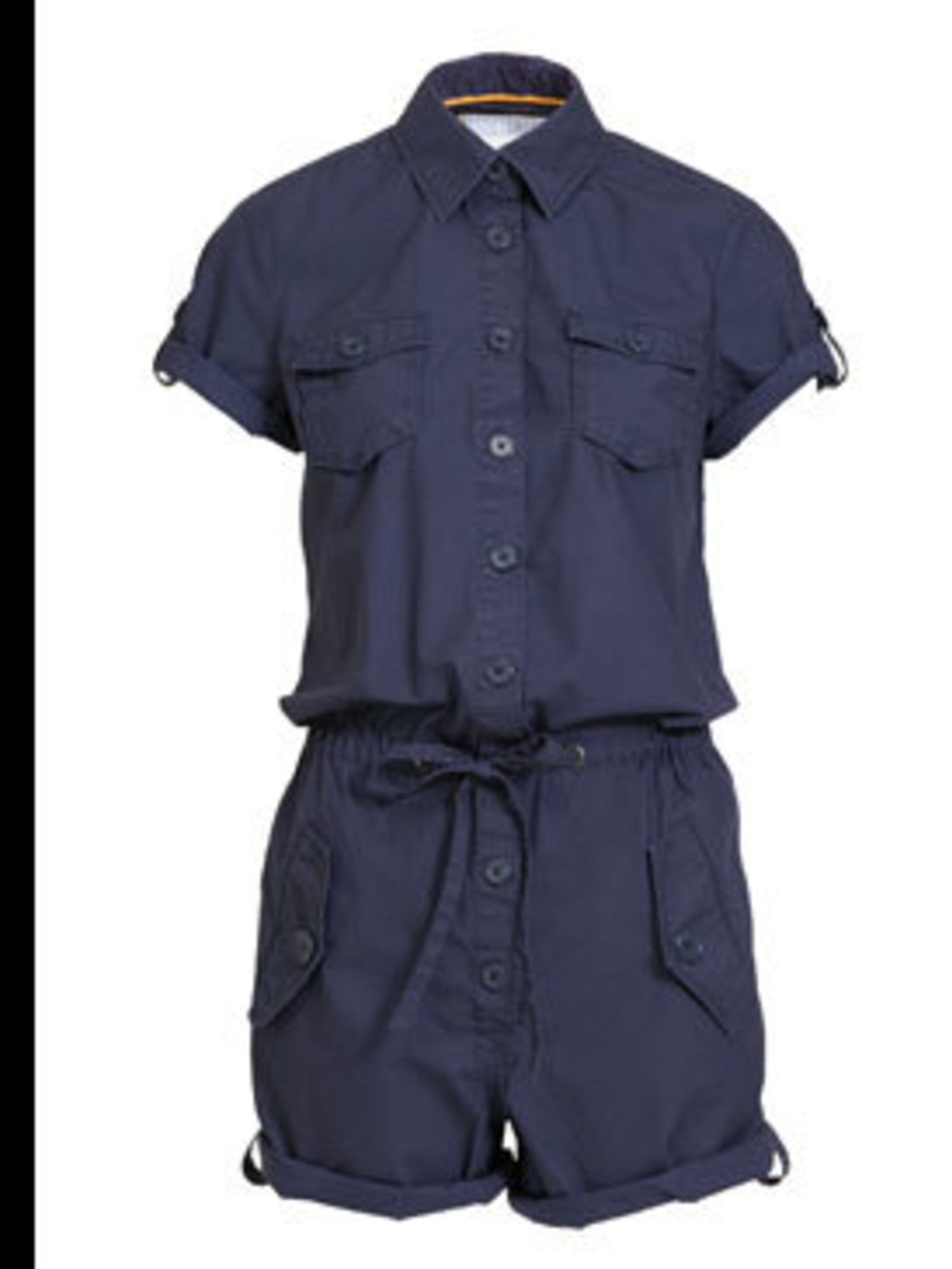 "<p>Playsuit, £24.99 by <a href=""http://www.hm.com/"">H&M</a></p>"