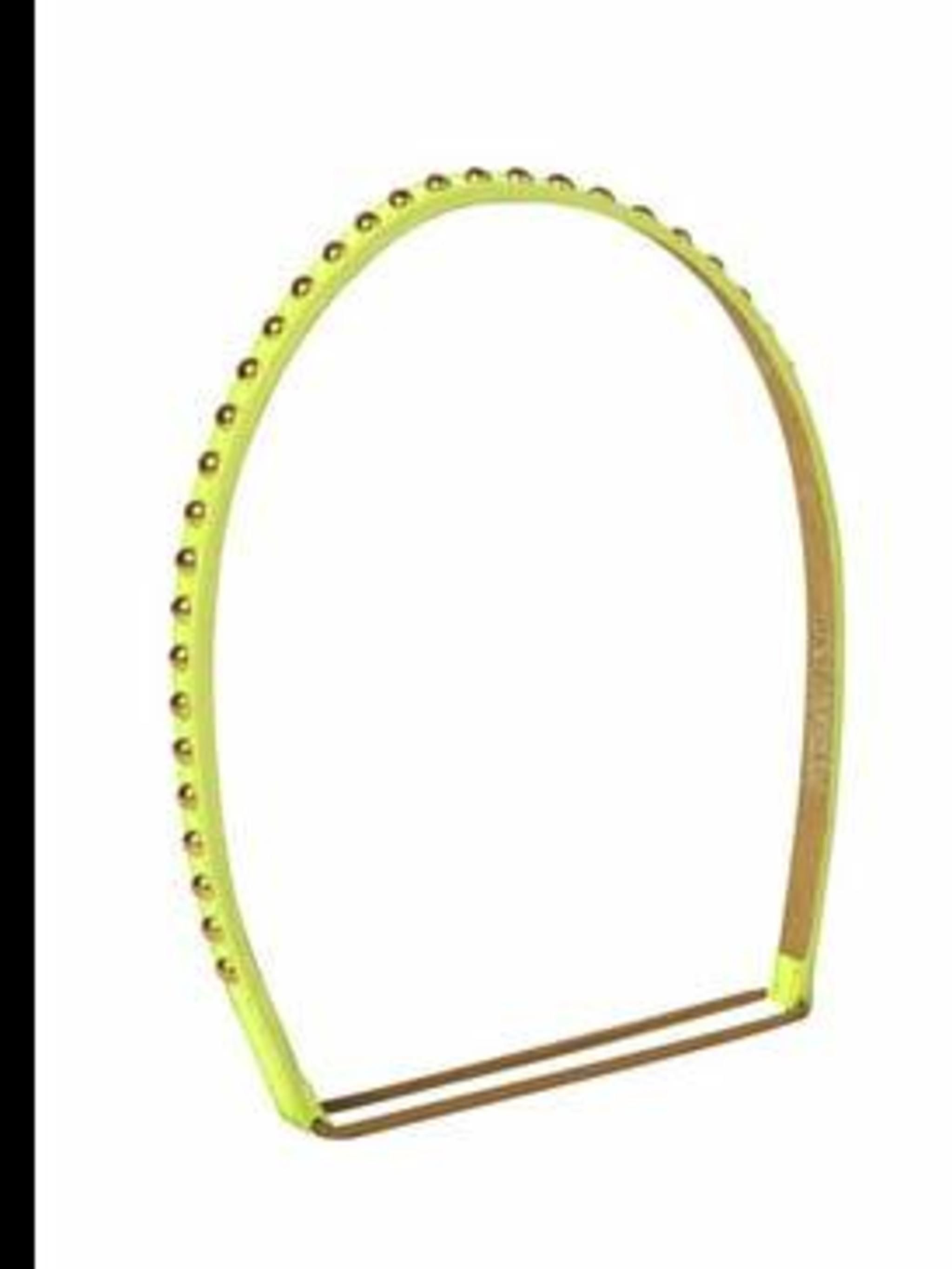 "<p>Headband, £115 by Jennifer Behr at <a href=""http://www.liberty.co.uk/fcp/product/Liberty/Accessories/Patent-Green-Studded-Headband,--Jennifer-Behr/11565"">Liberty</a></p>"