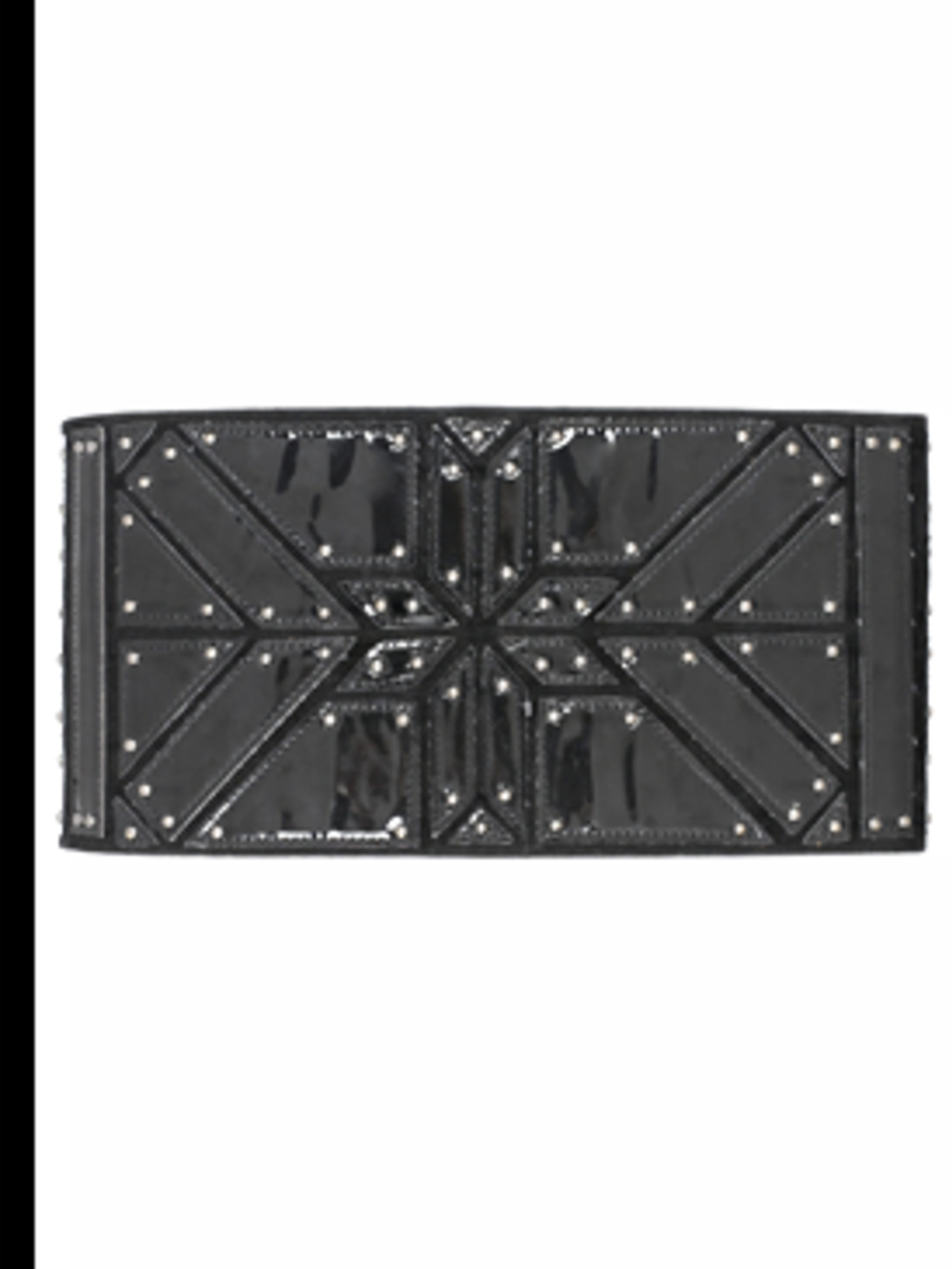 <p>Wide patent, studded belt, £12 from New Look for stockists call 0500 454 094</p>
