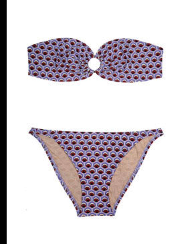 """<p>Bikini, £146 by Paul &amp&#x3B; Joe at <a href=""""http://www.my-wardrobe.com/paul-joe/purple-essiam-strapless-bikini-by-paul-joe"""">My-Wardrobe</a></p>"""