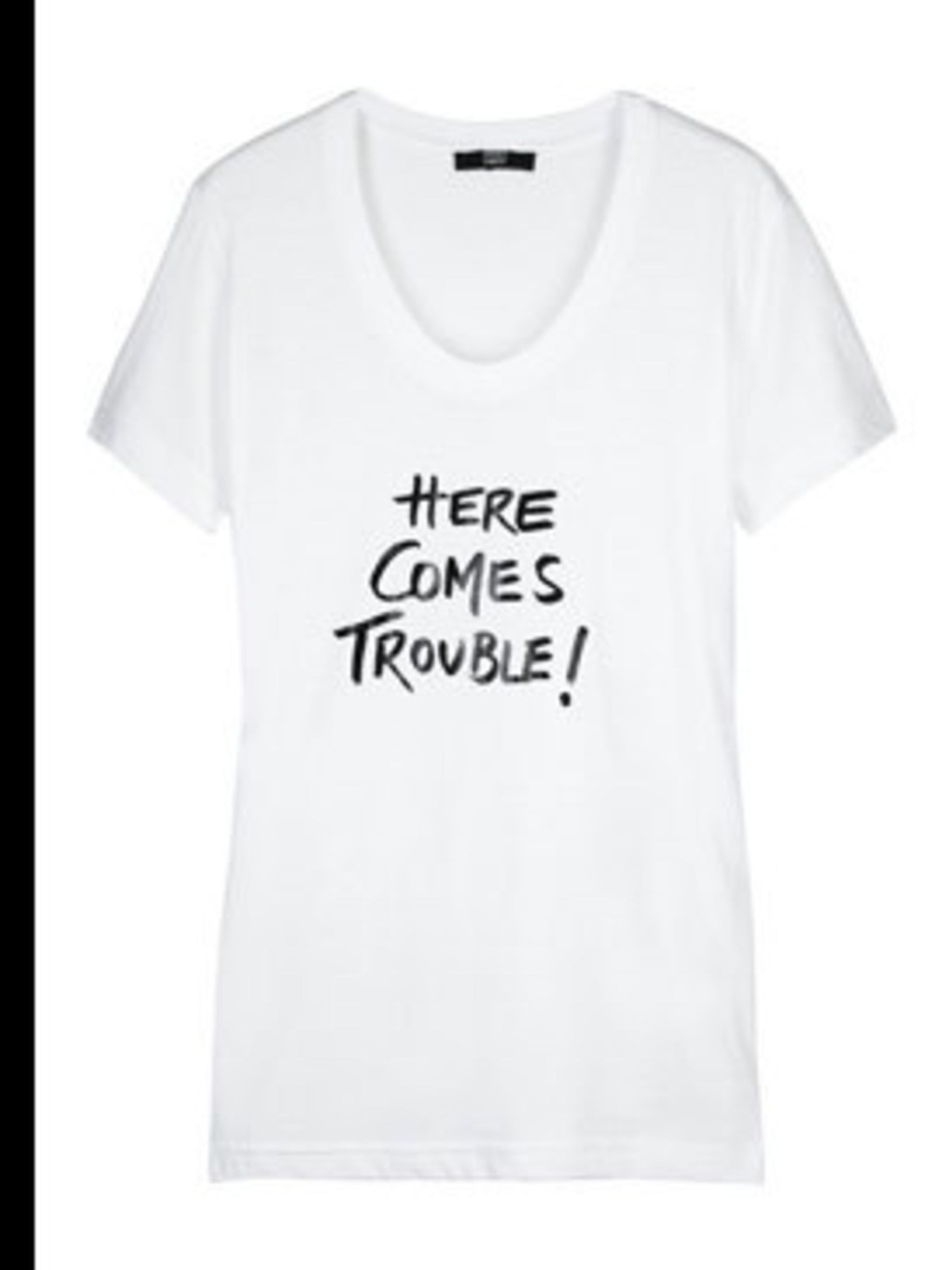 "<p>T-Shirt, £59 by Markus Lupfer at <a href=""http://www.net-a-porter.com/product/41471"">Net-a-Porter</a></p>"