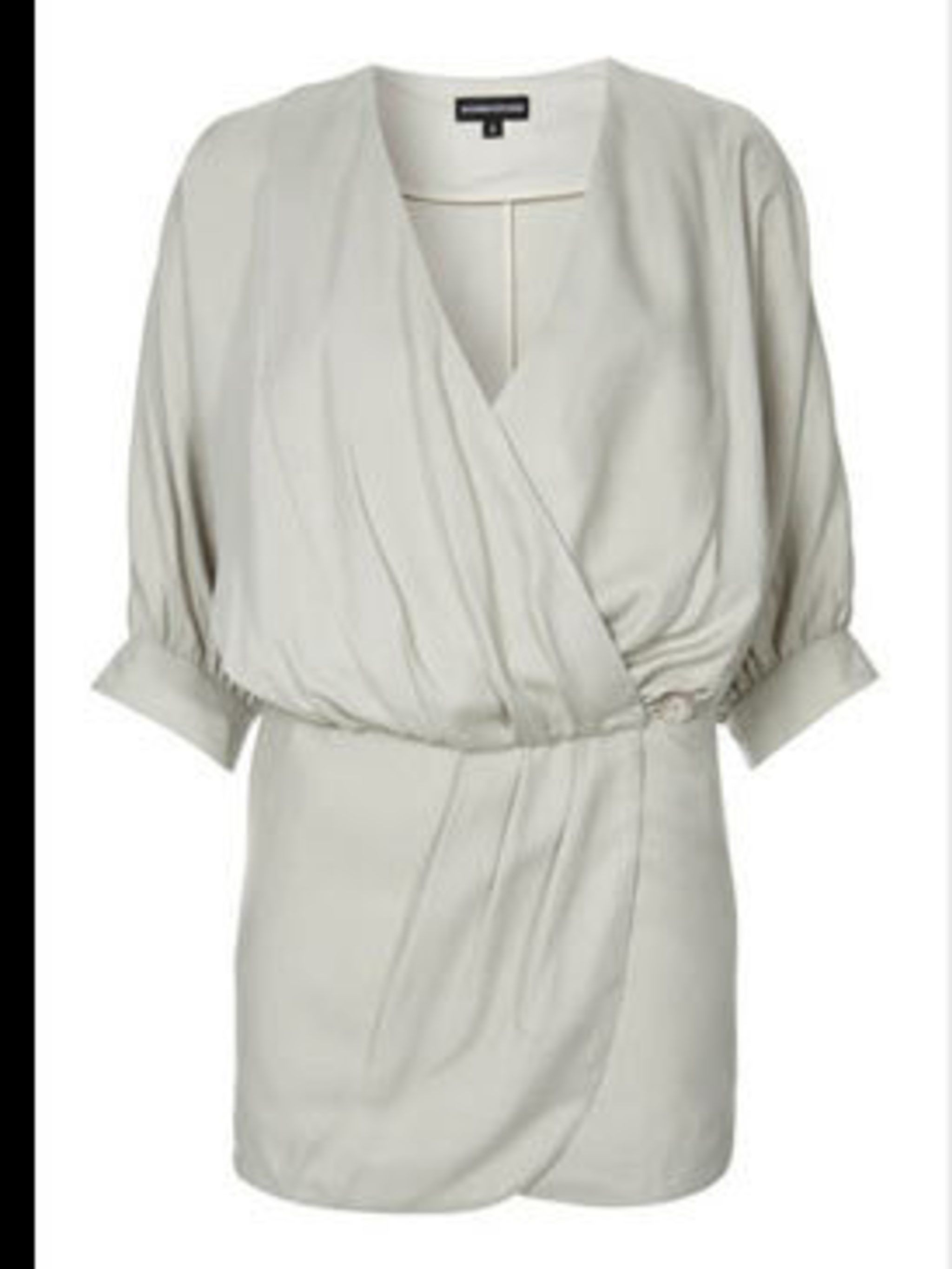 "<p>Dress, £55 by <a href=""http://www.warehouse.co.uk/fcp/product/fashion//BLOUSON-WRAP-DRESS/12219"">Warehouse</a></p>"