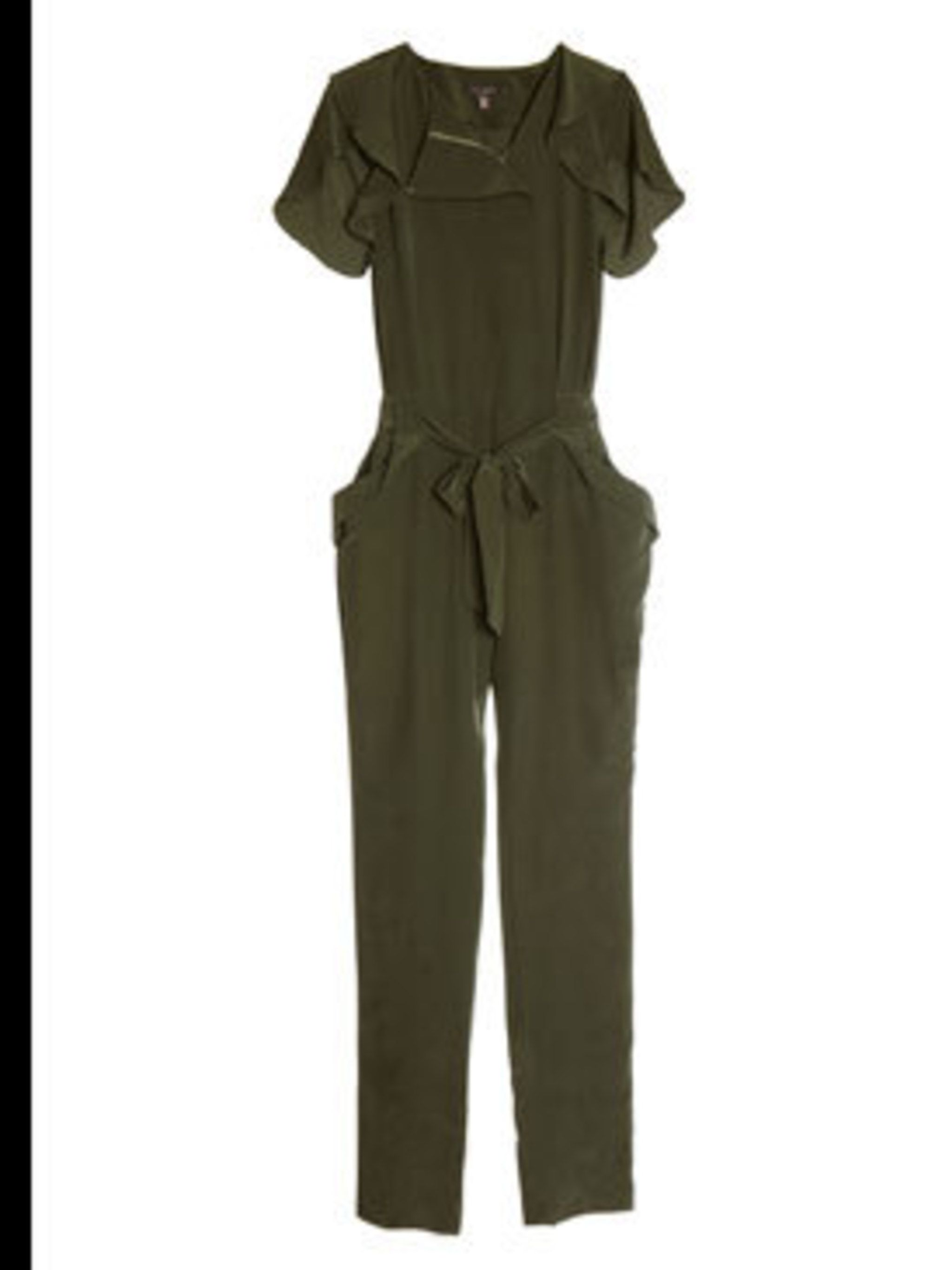 "<p>Jumpsuit, £150 by <a href=""http://www.tedbaker.com/index.do"">Ted Baker</a></p>"