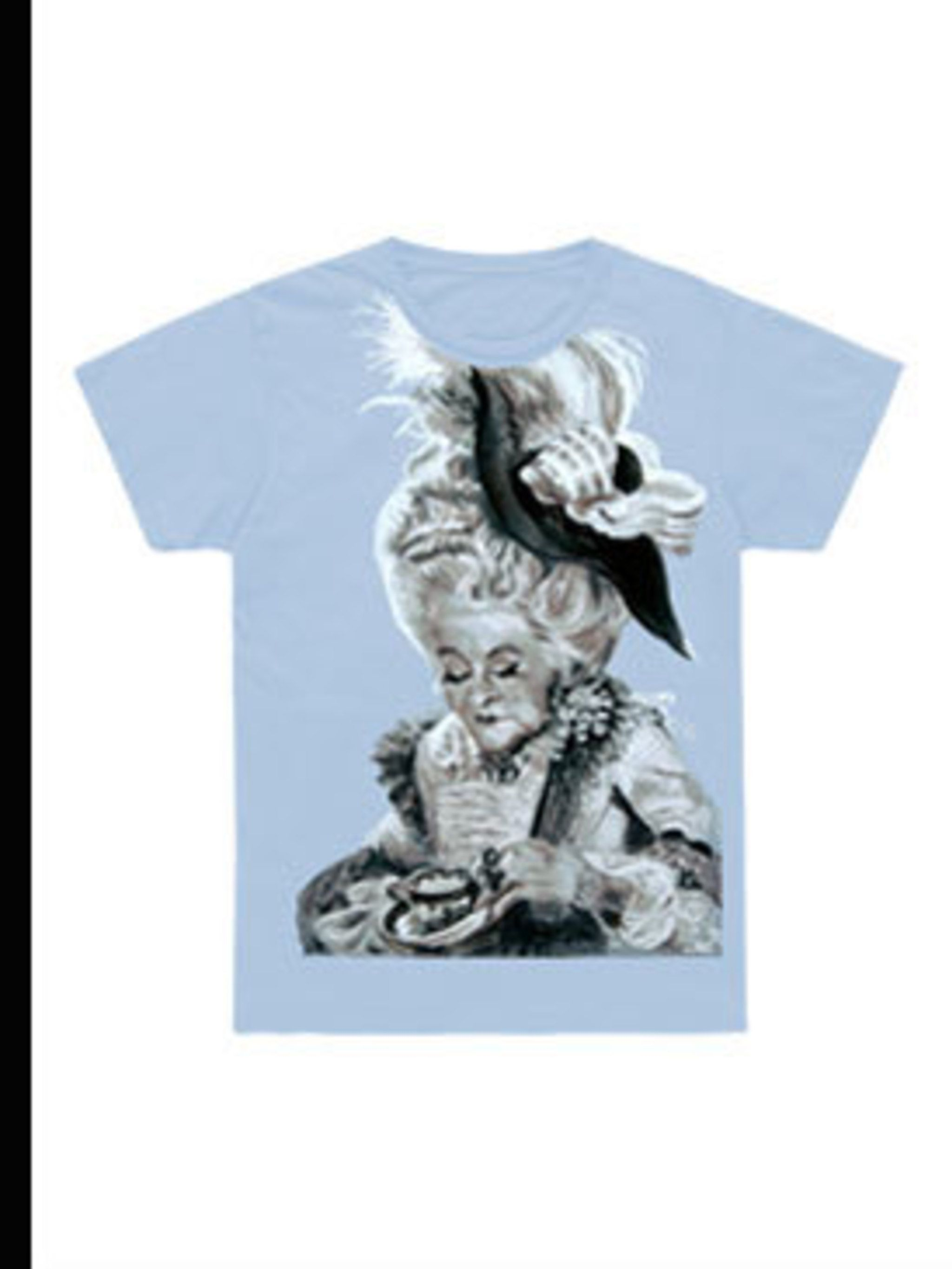 <p>Marie Antoinette T-shirt, £20 from Marc Jacobs, for stockists call 020 7907 2515</p>
